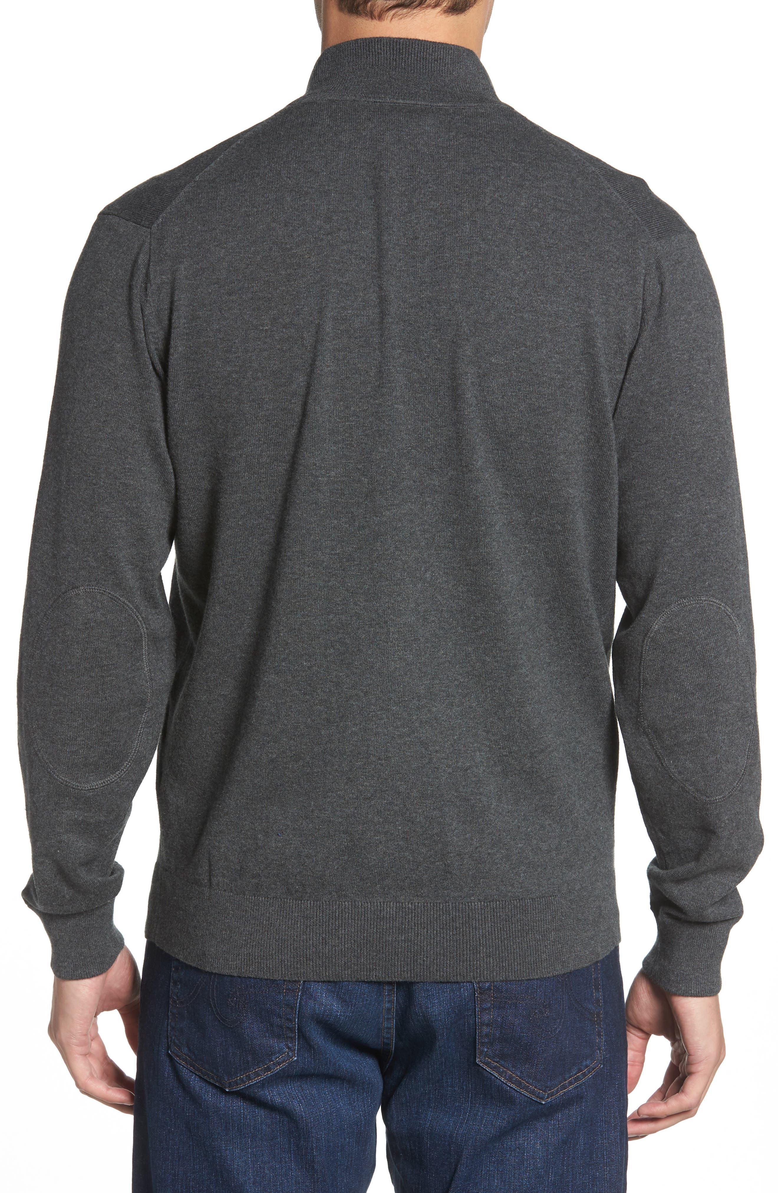 Seattle Seahawks - Lakemont Regular Fit Quarter Zip Sweater,                             Alternate thumbnail 2, color,                             CHARCOAL HEATHER