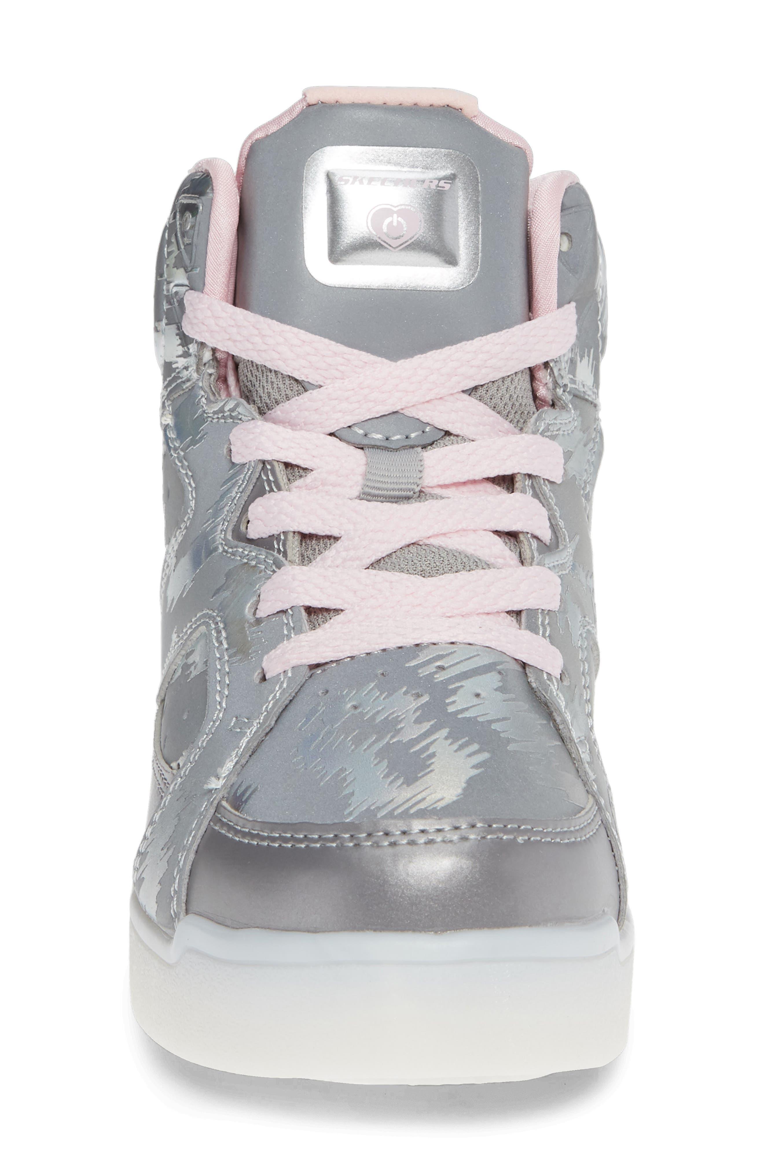 Energy Lights Pro Reflecti-Fab Sneaker,                             Alternate thumbnail 4, color,                             SILVER