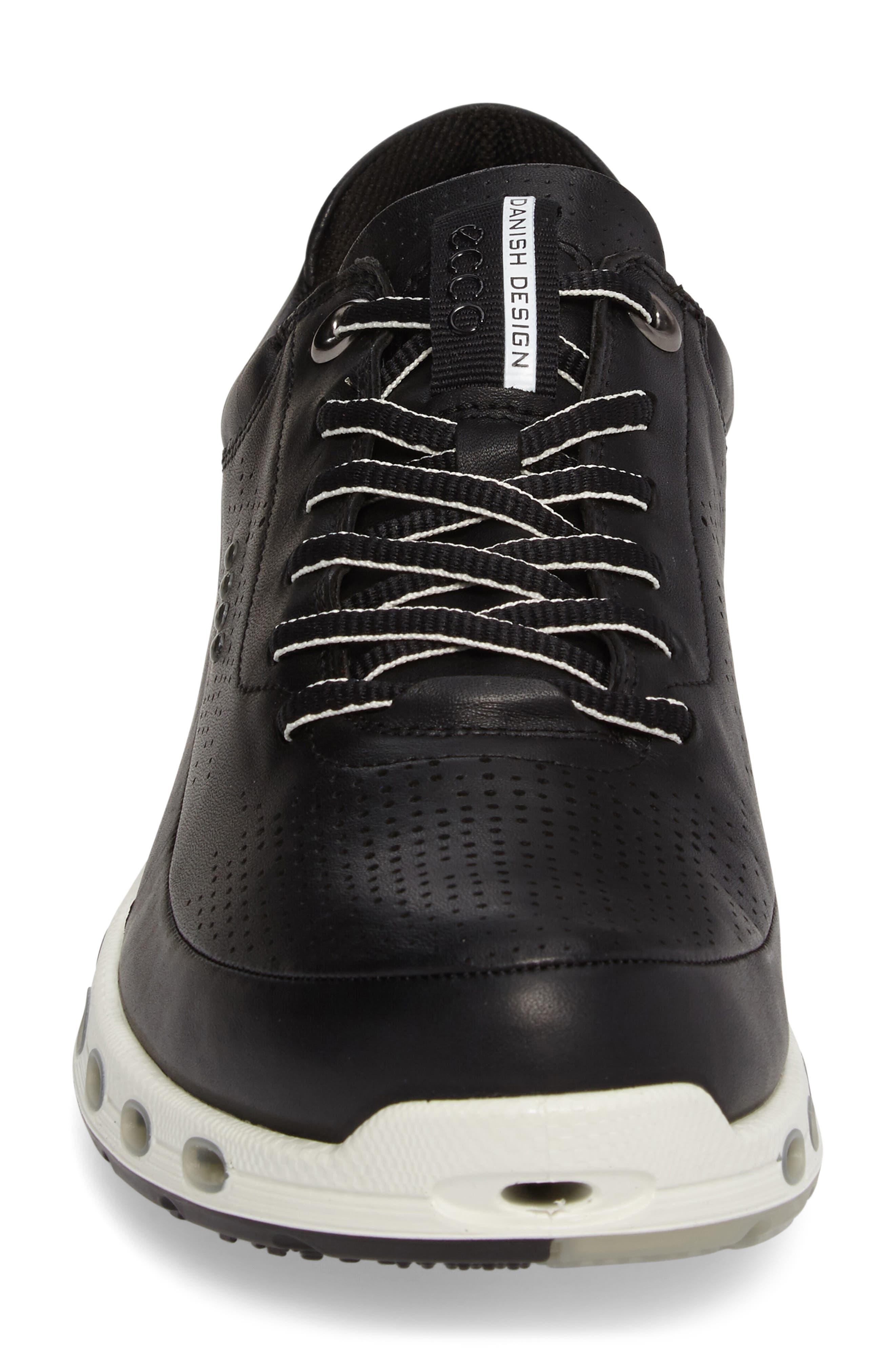 Cool 2.0 Leather GTX Sneaker,                             Alternate thumbnail 4, color,                             BLACK