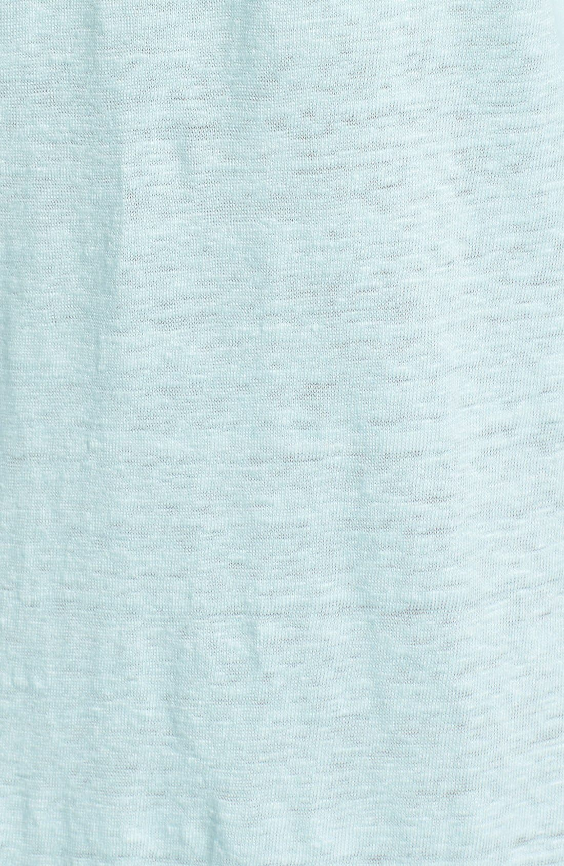 Bateau Neck Organic Linen Tunic,                             Alternate thumbnail 54, color,