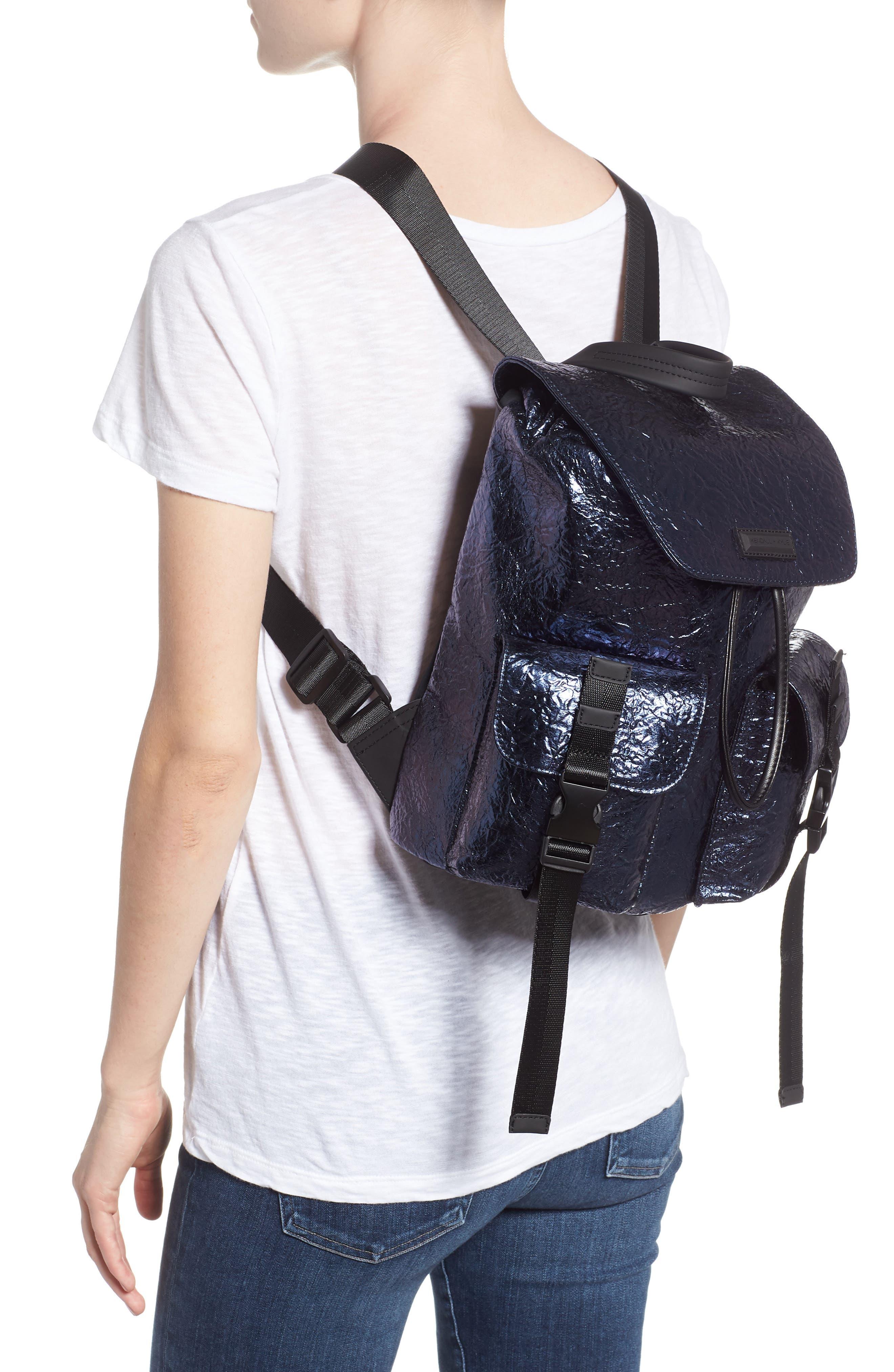KENDALL + KYLIE,                             Parker Metallic Water Resistant Backpack,                             Alternate thumbnail 2, color,                             400