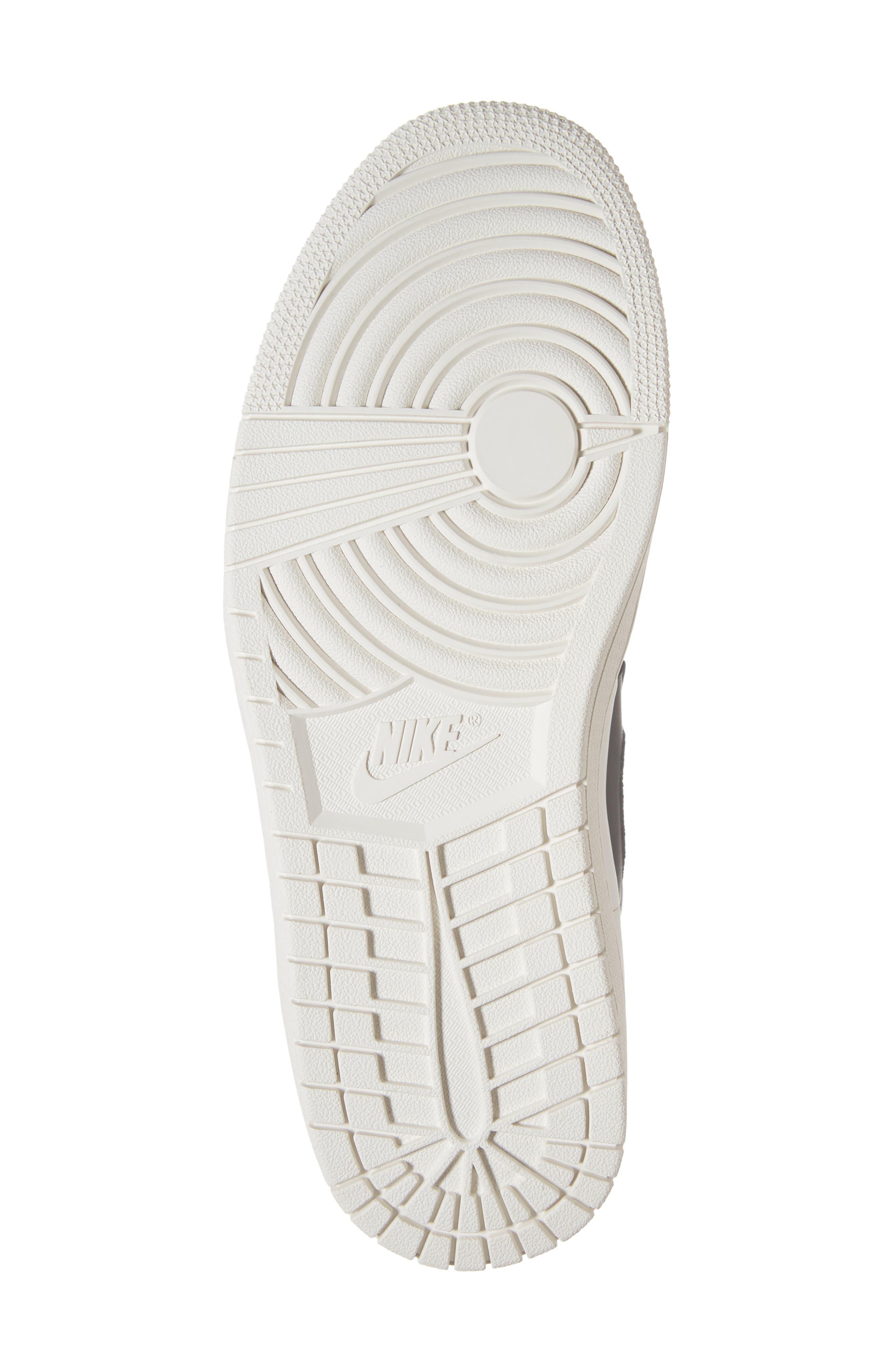 Air Jordan 1 Retro High Double Strap Sneaker,                             Alternate thumbnail 6, color,                             BLACK/ GYM RED