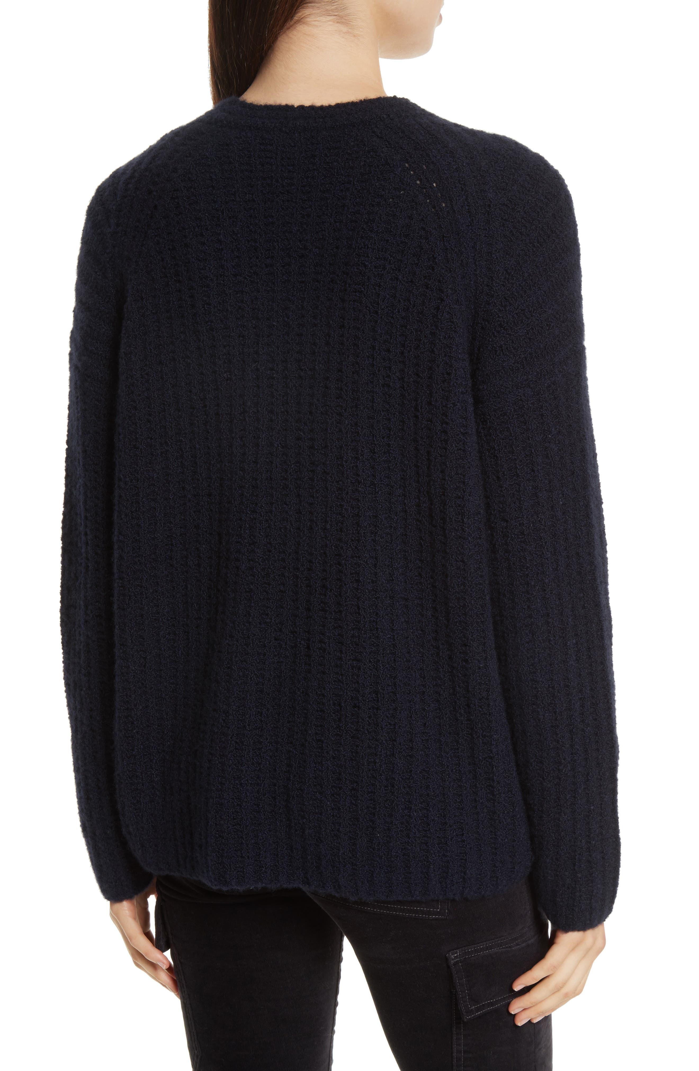 Deep V-Neck Cashmere Blend Sweater,                             Alternate thumbnail 6, color,