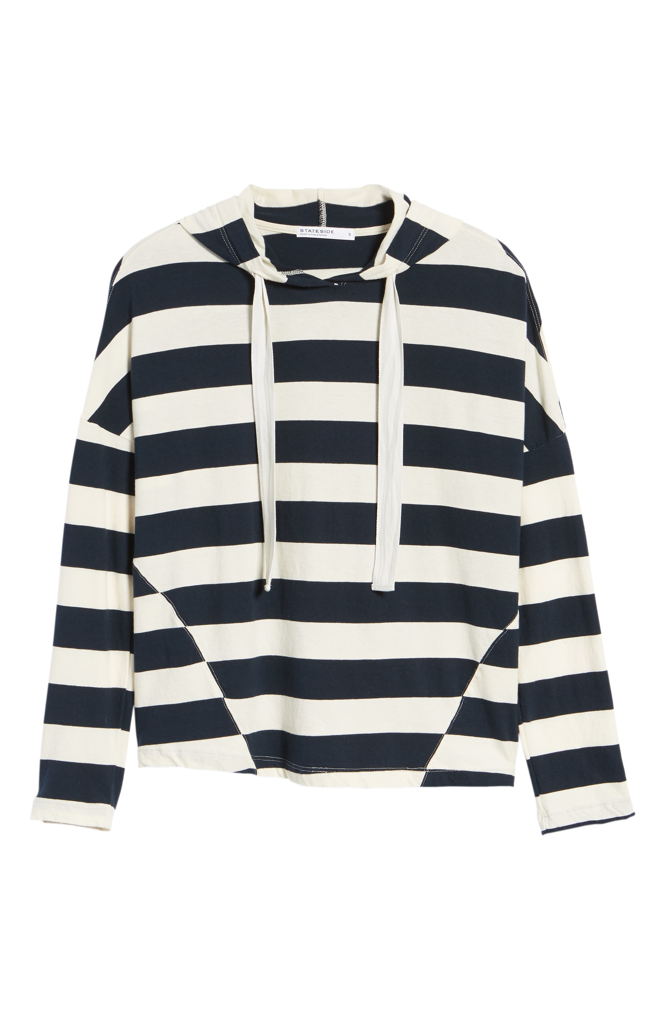 Stripe Hoodie,                             Alternate thumbnail 6, color,                             900