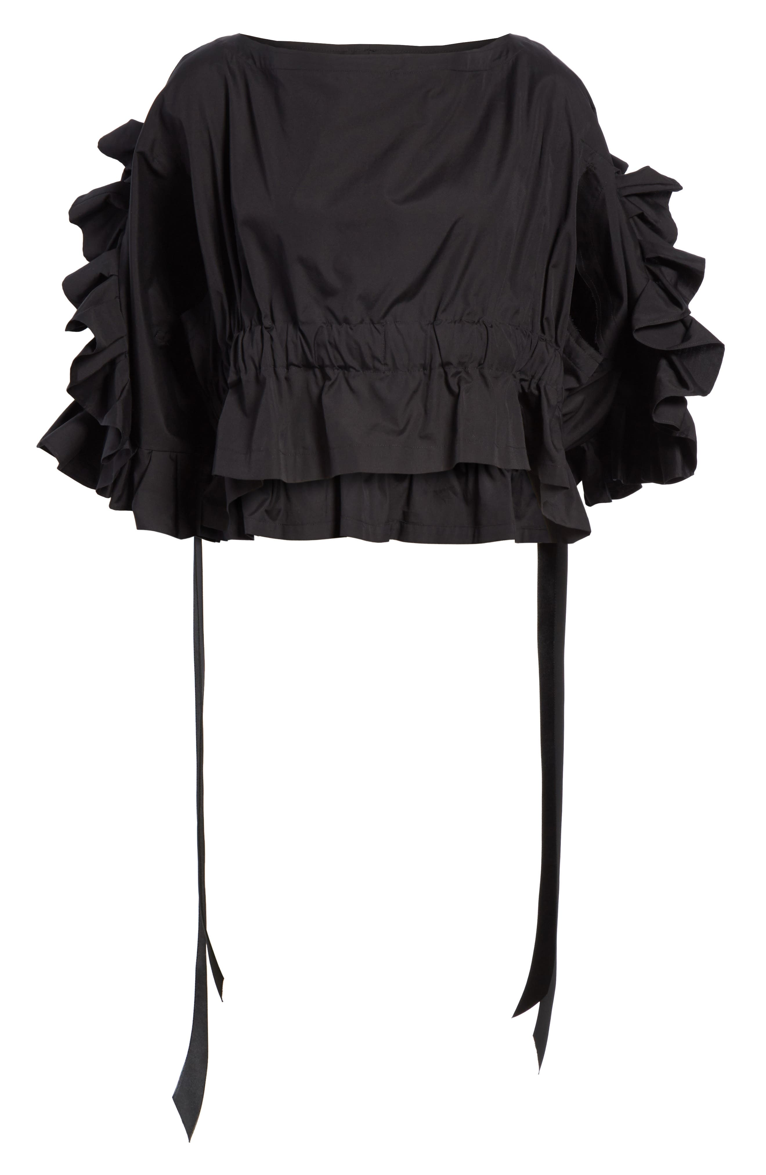 Crop Ruffle Top,                             Alternate thumbnail 11, color,