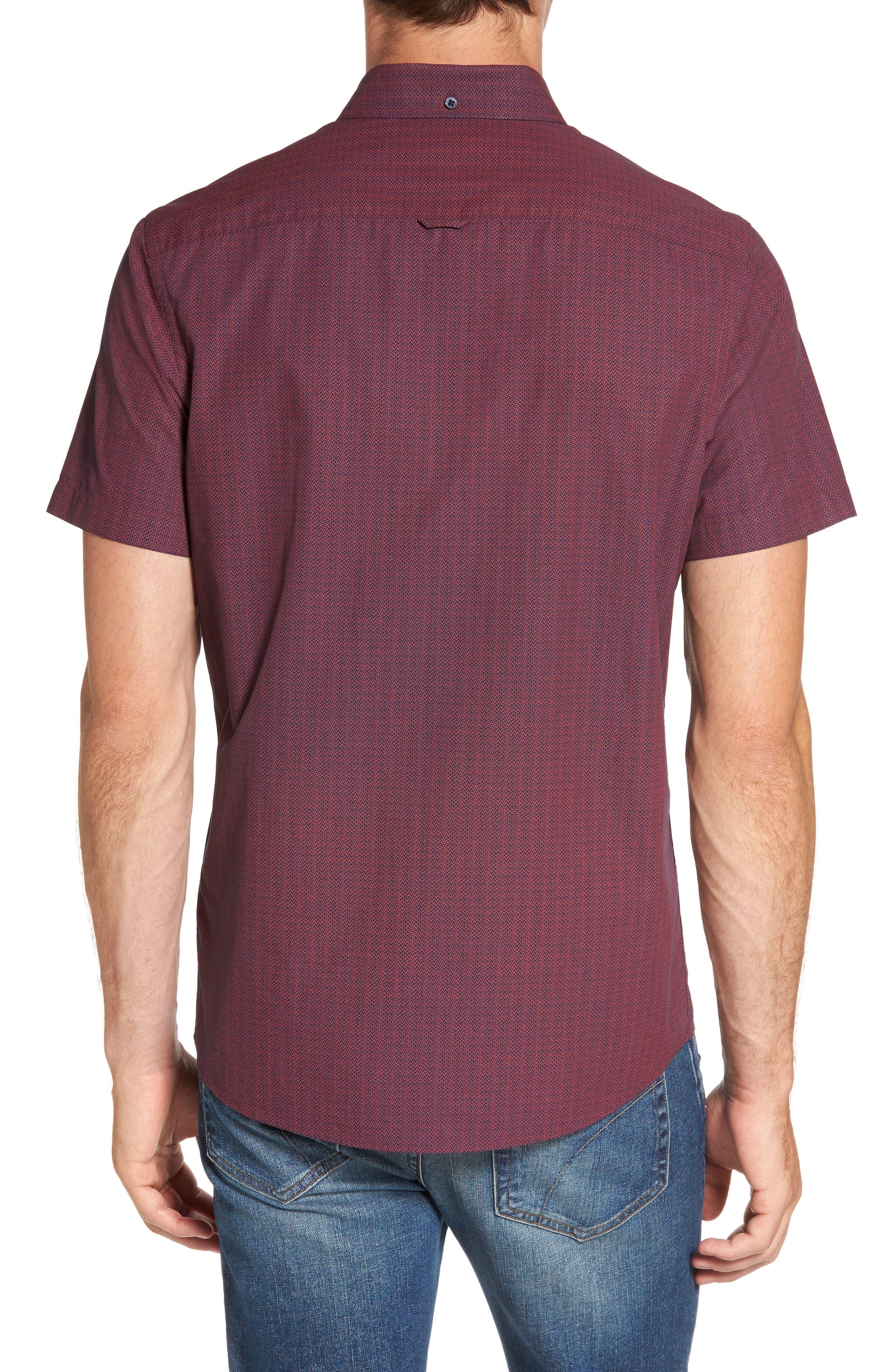 Slim Fit Print Sport Shirt,                             Alternate thumbnail 2, color,                             601