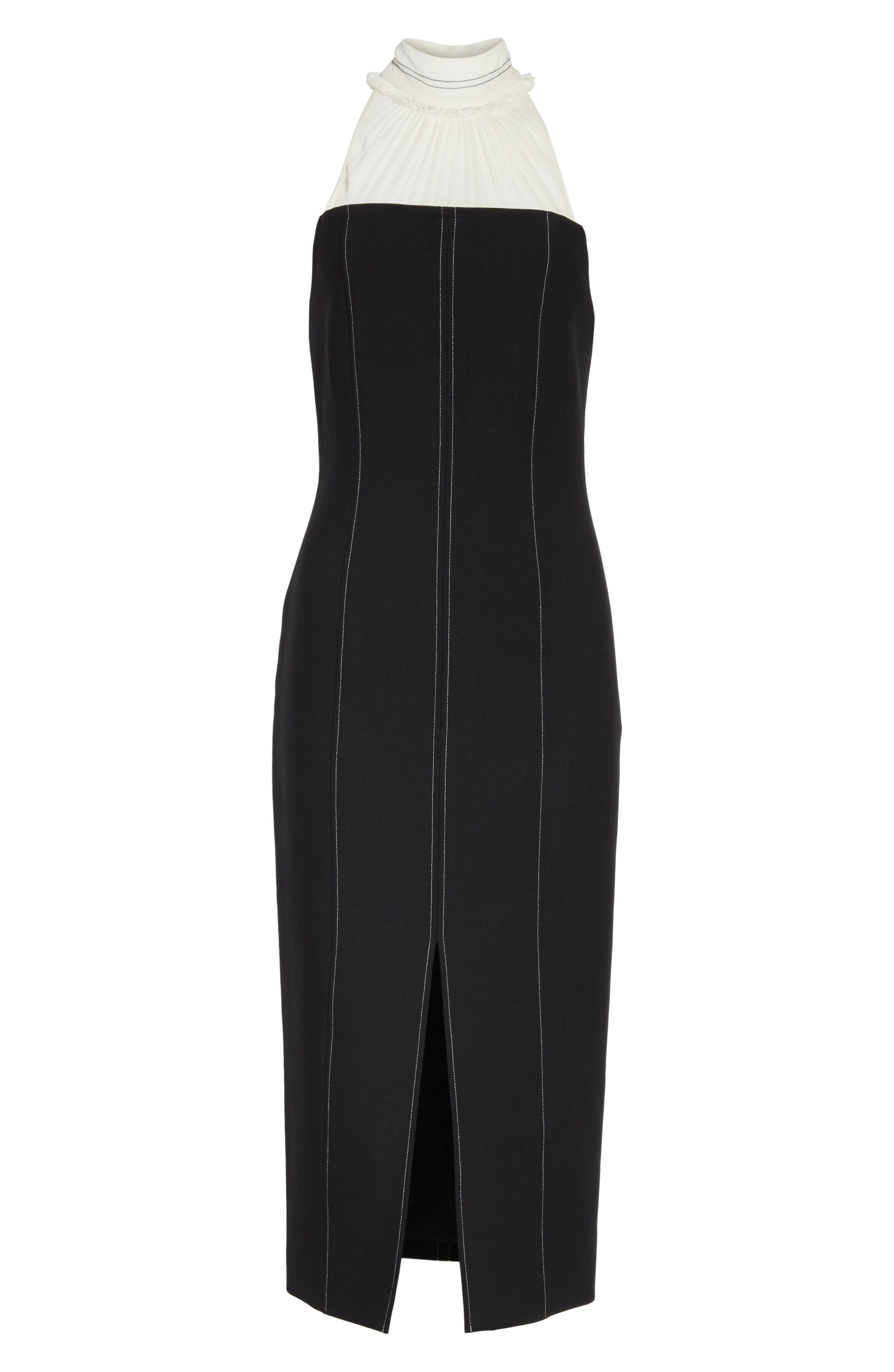 Noemi Halter Neck Dress,                             Alternate thumbnail 6, color,                             015