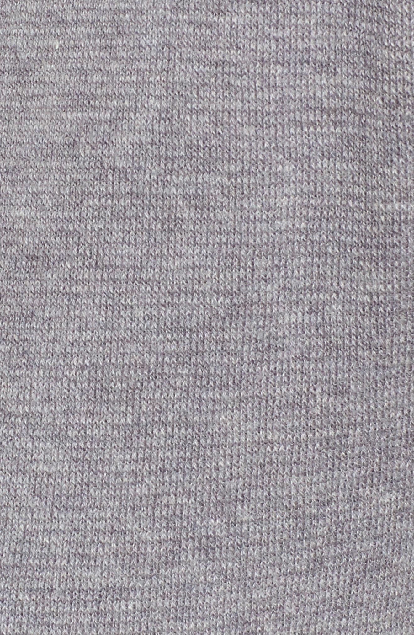 Heathered Knit Pants,                             Alternate thumbnail 5, color,                             WARM GREY