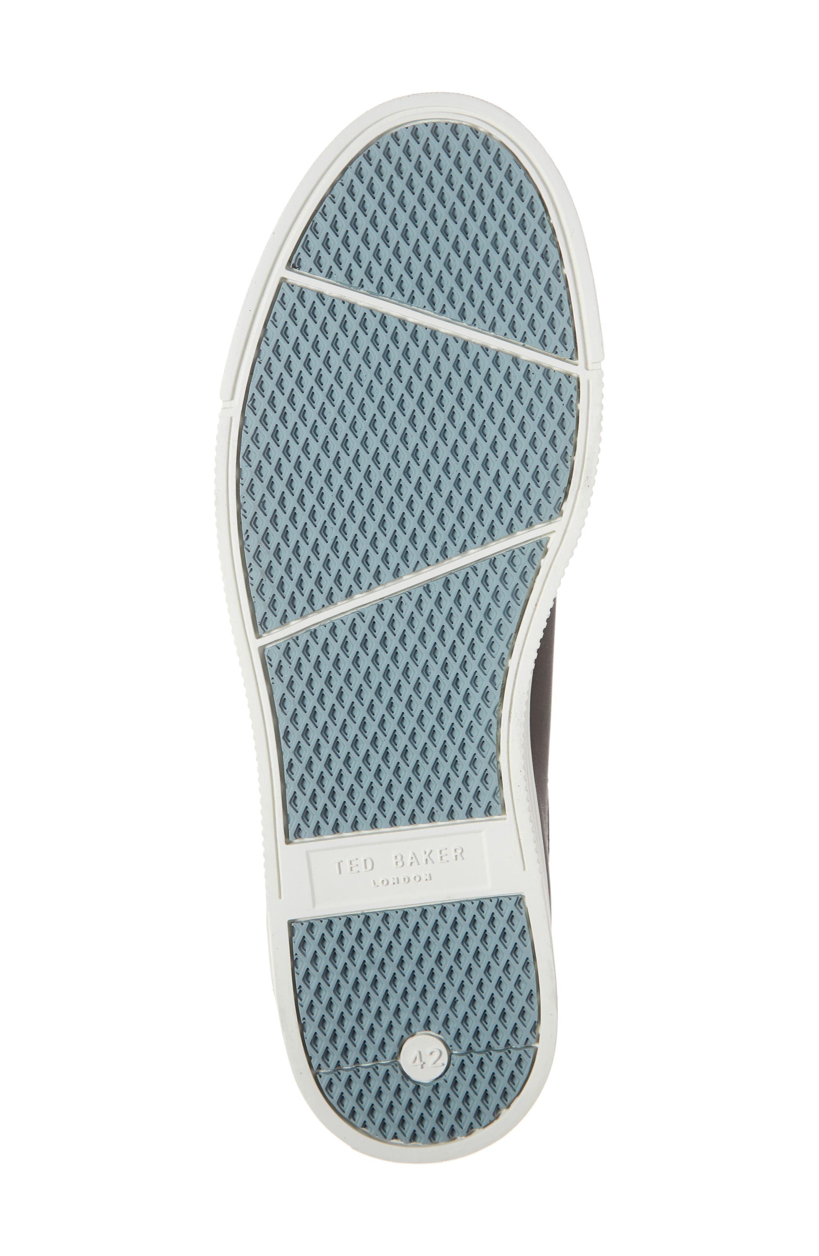 TED BAKER LONDON,                             Thawne Sneaker,                             Alternate thumbnail 6, color,                             BLACK LEATHER