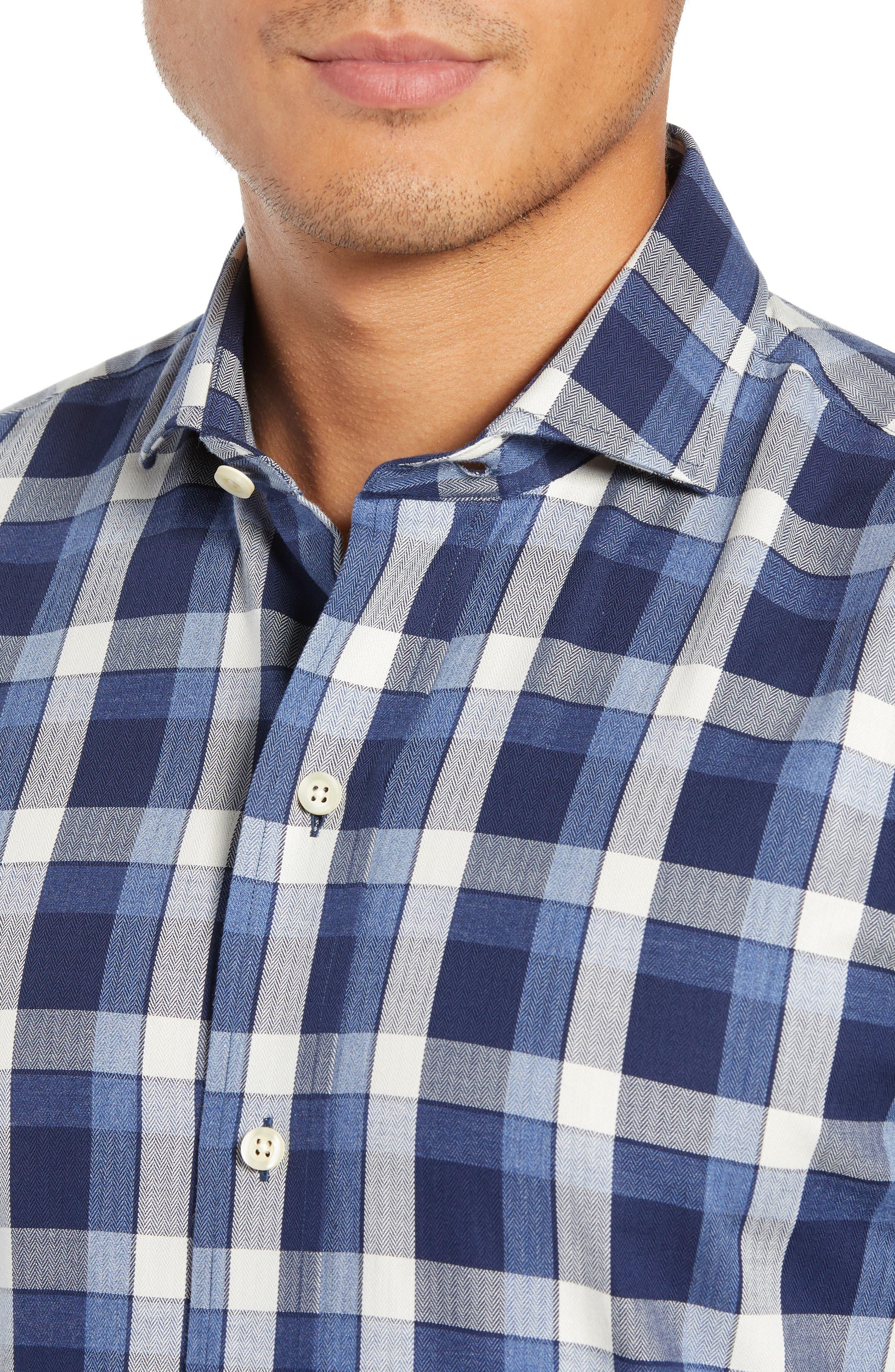 LEDBURY,                             The Dietz Slim Fit Plaid Dress Shirt,                             Alternate thumbnail 2, color,                             410