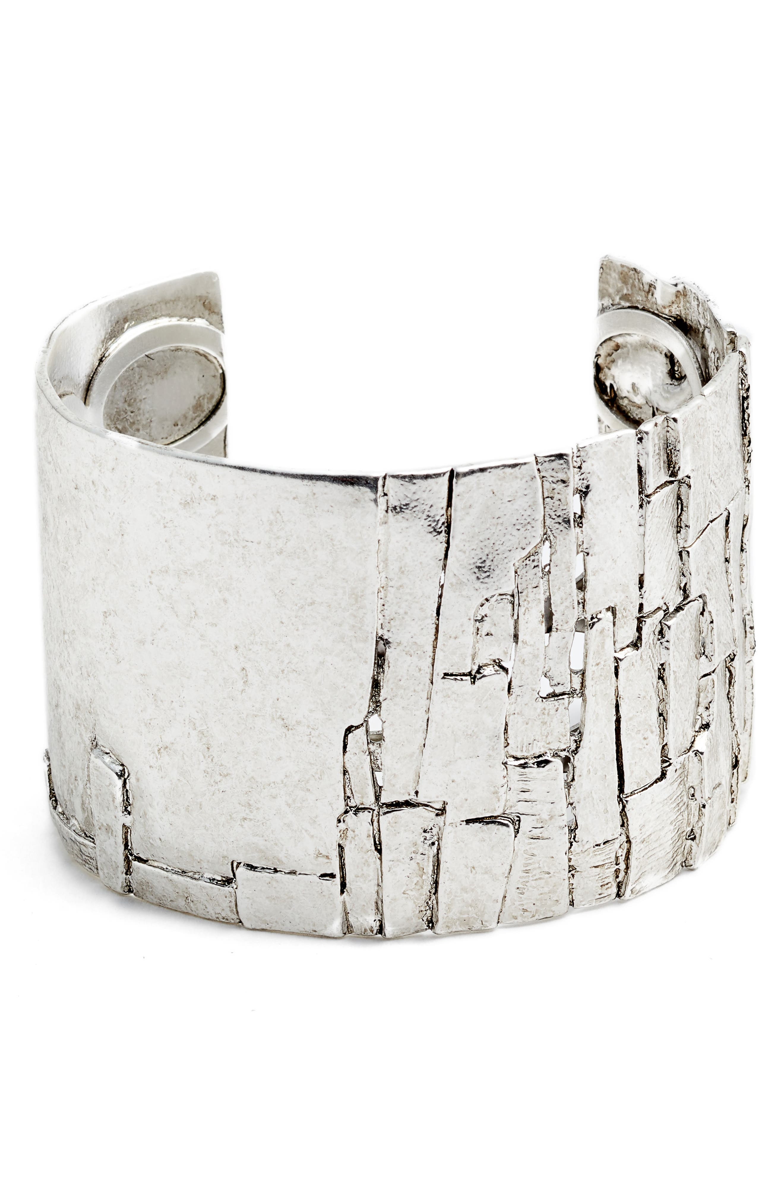 Wide Cuff,                         Main,                         color, SILVER
