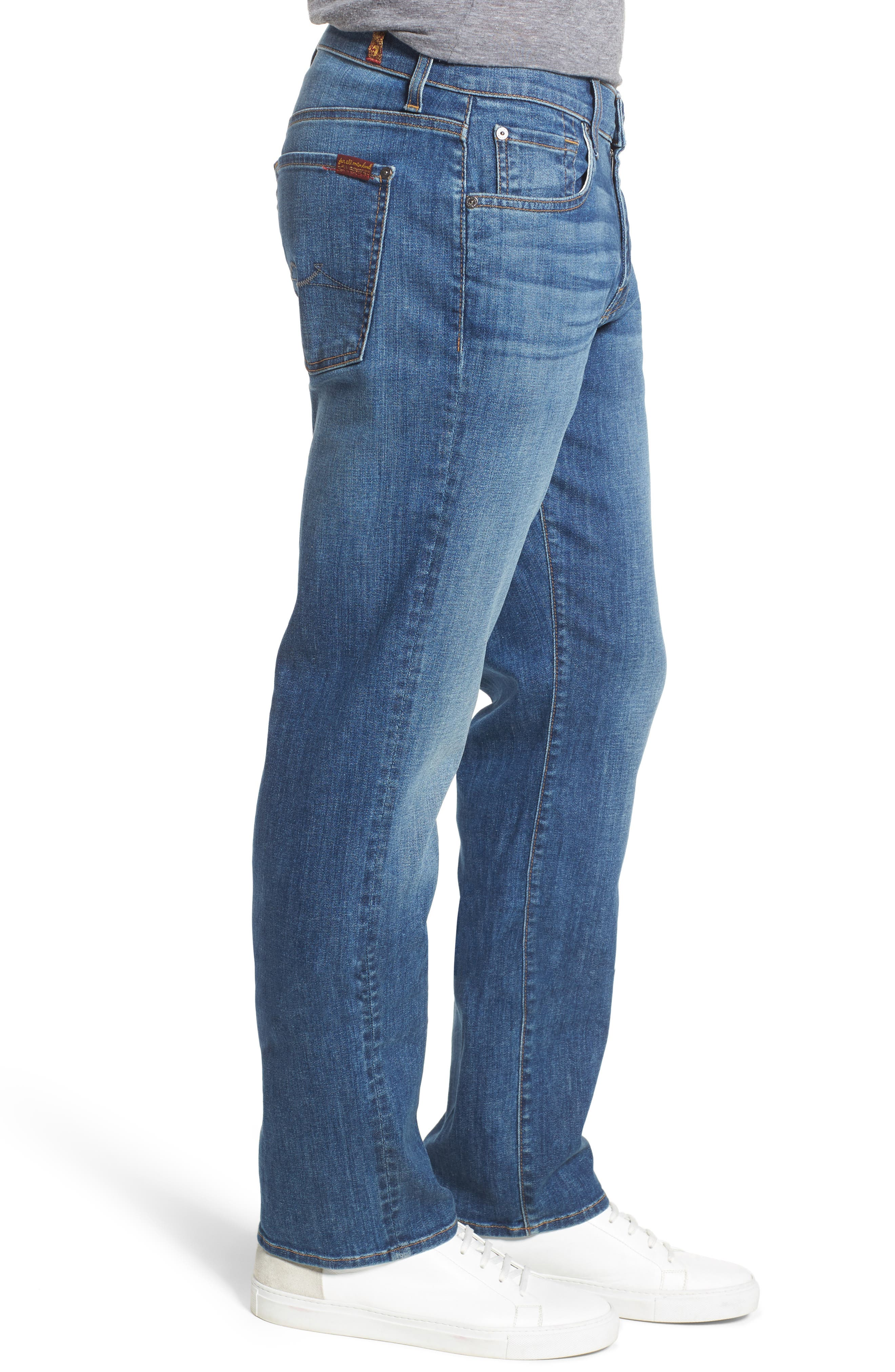 The Standard Straight Fit Jeans,                             Alternate thumbnail 3, color,                             401
