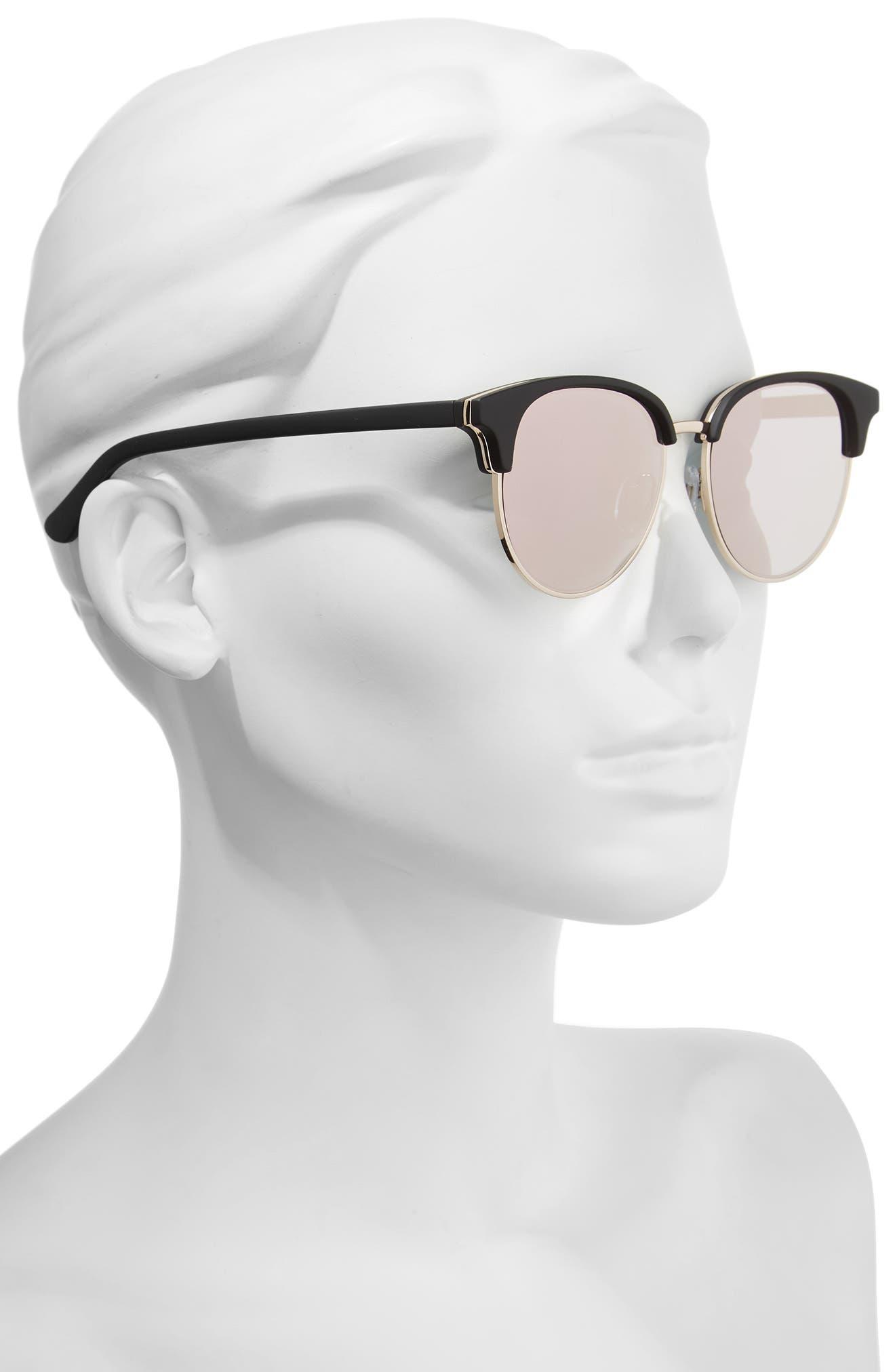 Deja Vu 51mm Round Sunglasses,                             Alternate thumbnail 2, color,                             001