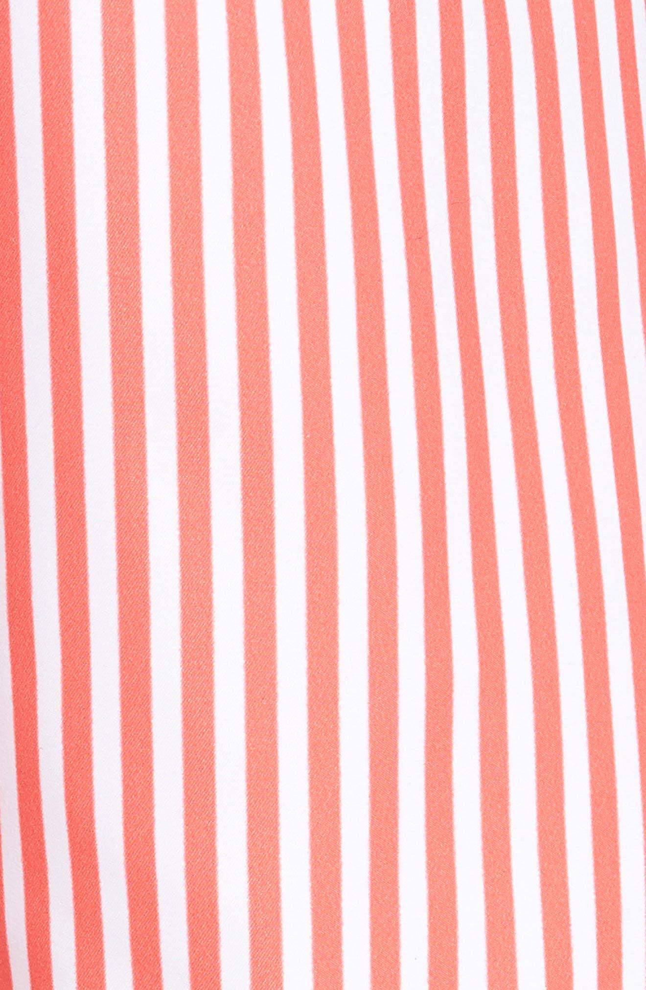 Deck Stripes Swim Trunks,                             Alternate thumbnail 5, color,                             PINK