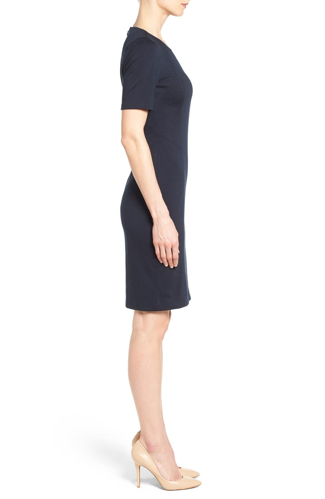 'Judianne' Short Sleeve Sheath Dress,                             Alternate thumbnail 6, color,