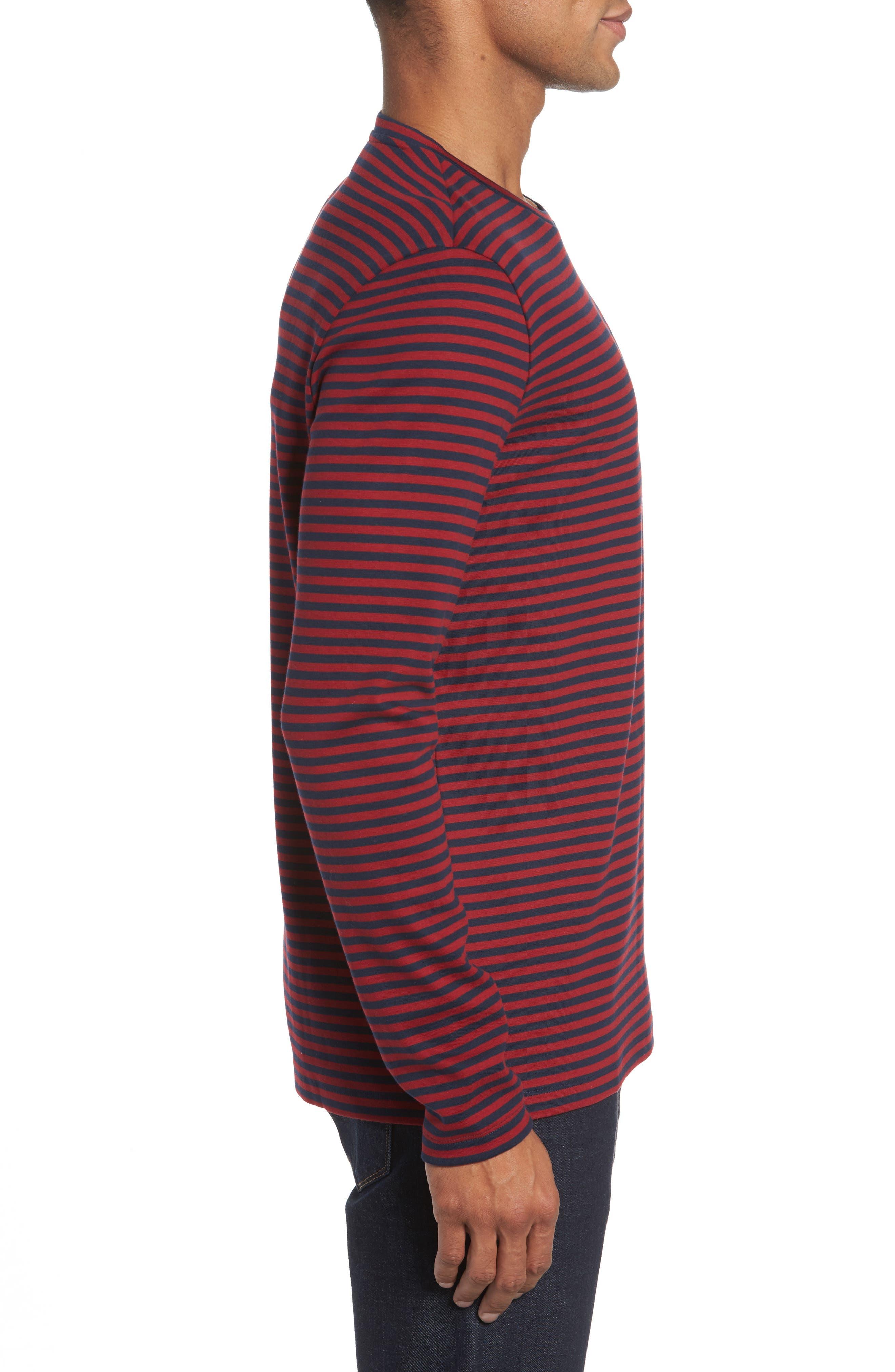 Stripe Long Sleeve T-Shirt,                             Alternate thumbnail 3, color,                             611