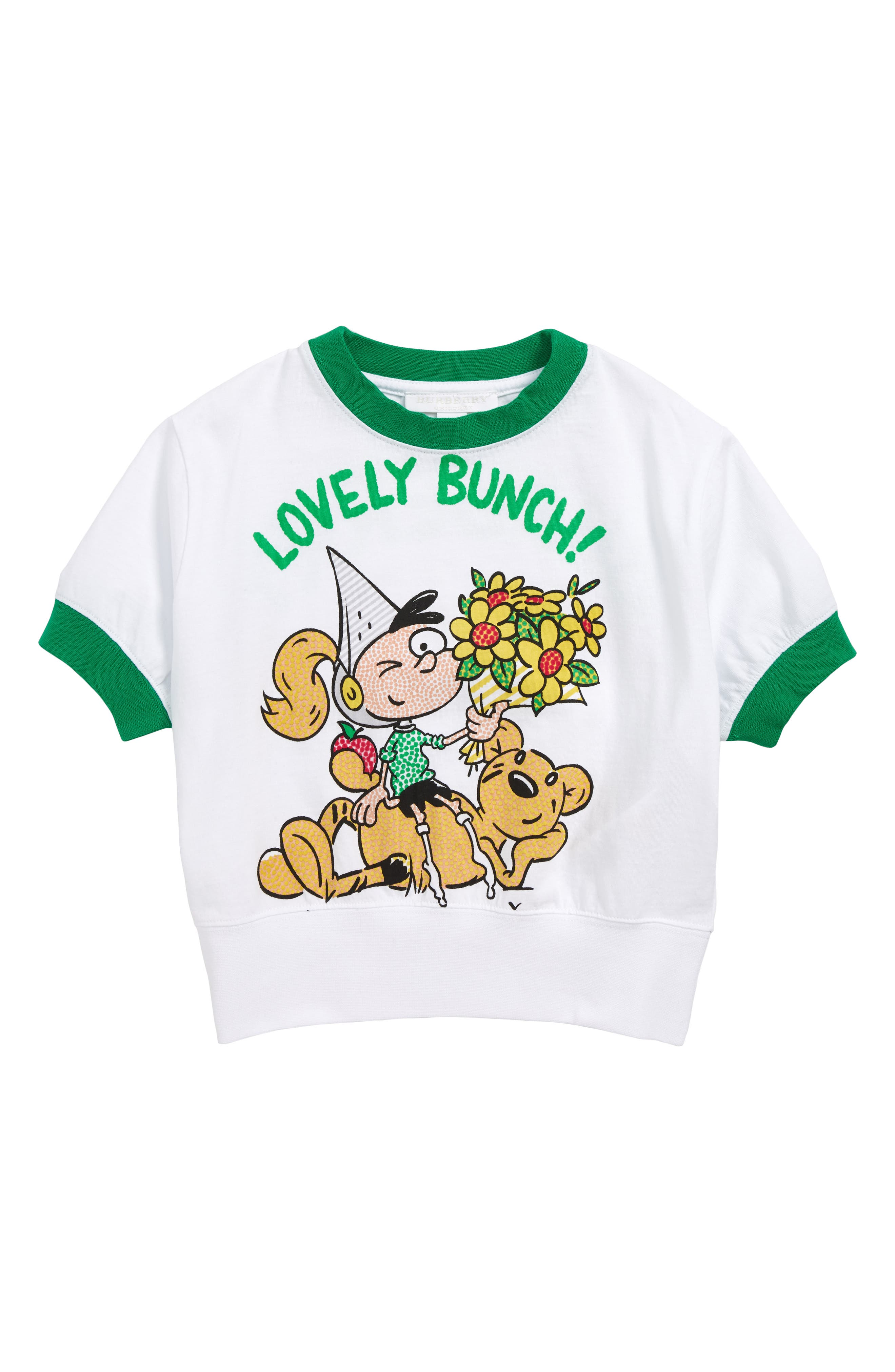 Lovely Bunch T-Shirt,                             Main thumbnail 1, color,                             WHITE
