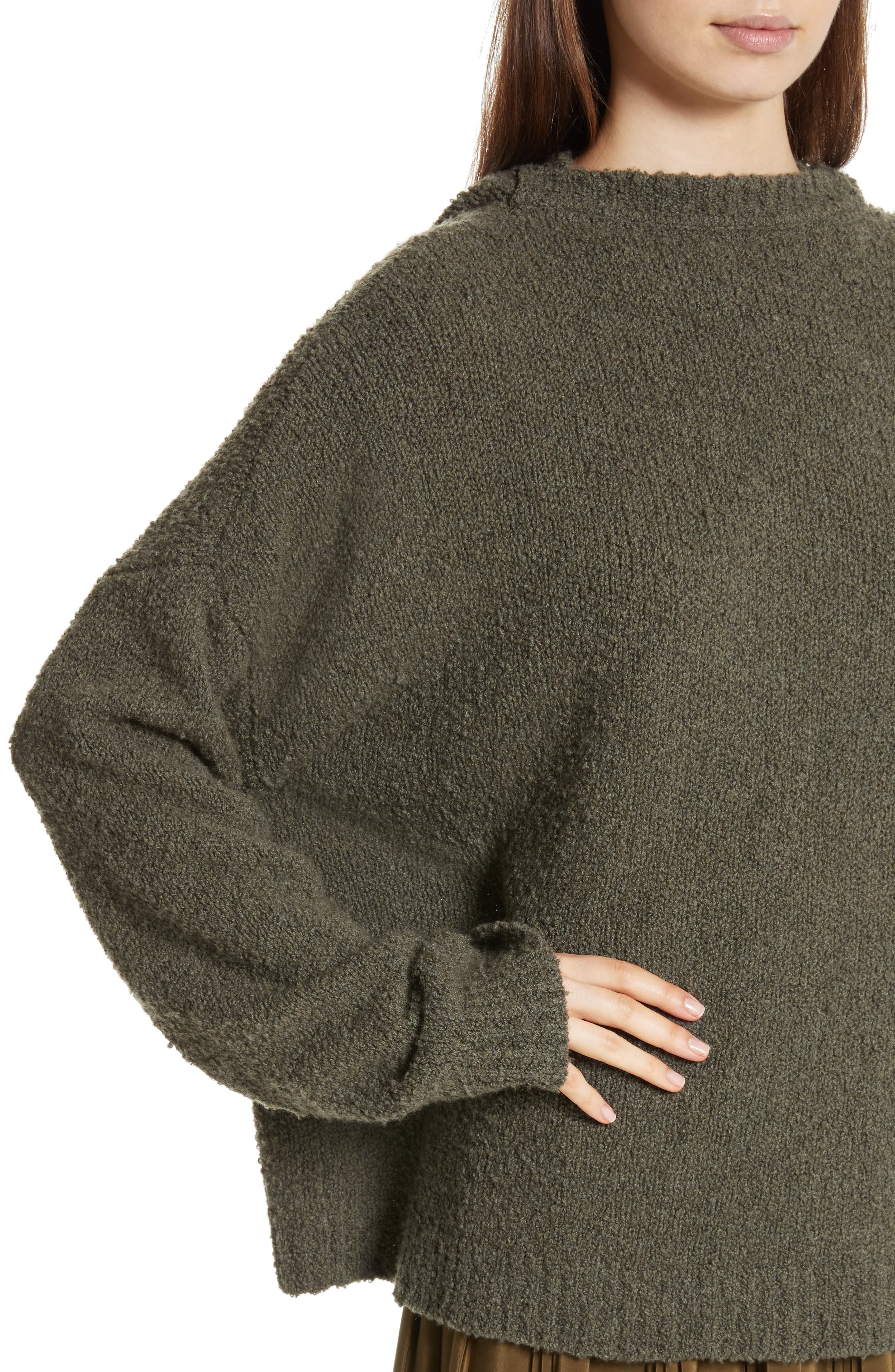 Merino Wool & Cashmere Reversible Hooded Sweater,                             Alternate thumbnail 2, color,                             300