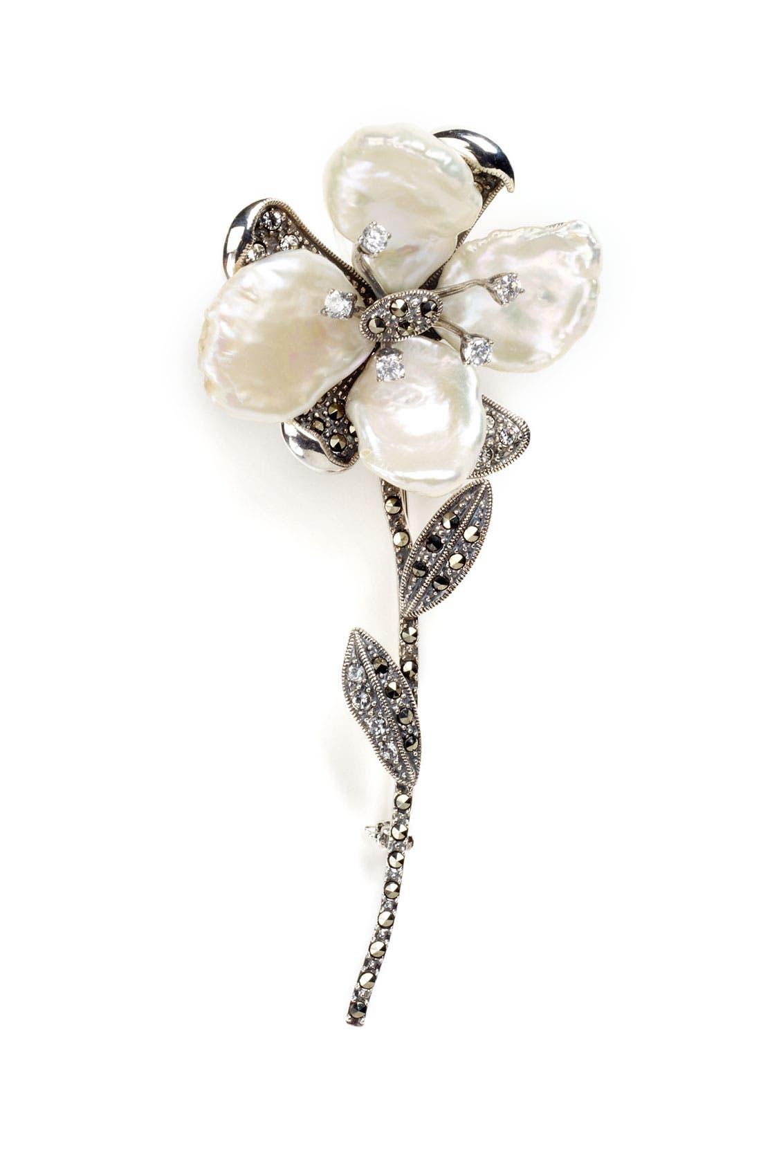 Magnolia Flower Pin,                         Main,                         color, 041