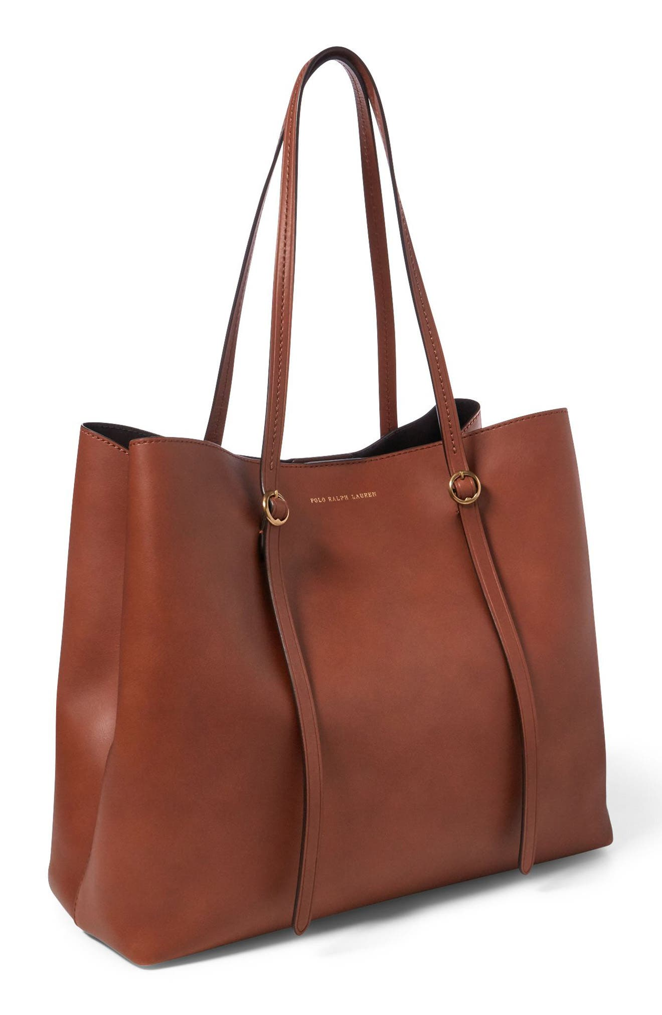 Lennox Leather Tote,                             Alternate thumbnail 4, color,                             200