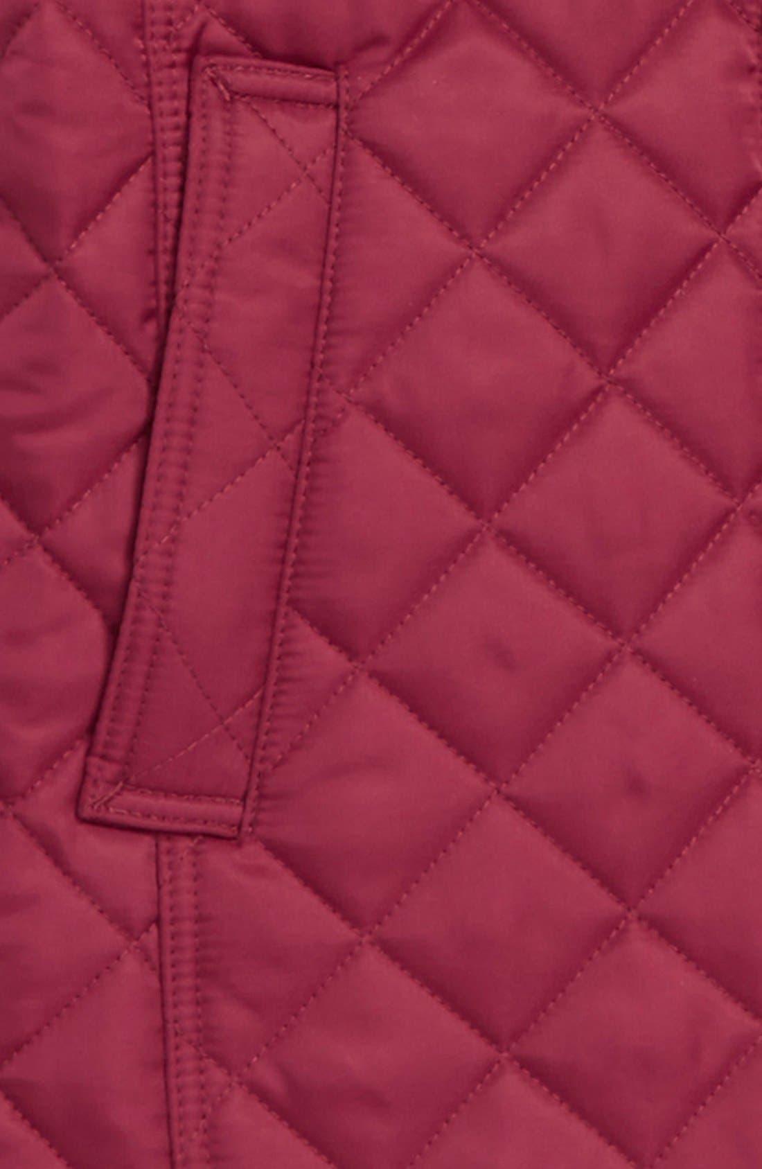 'MiniAshurst' Quilted Jacket,                             Alternate thumbnail 2, color,                             FRITILLARY PINK