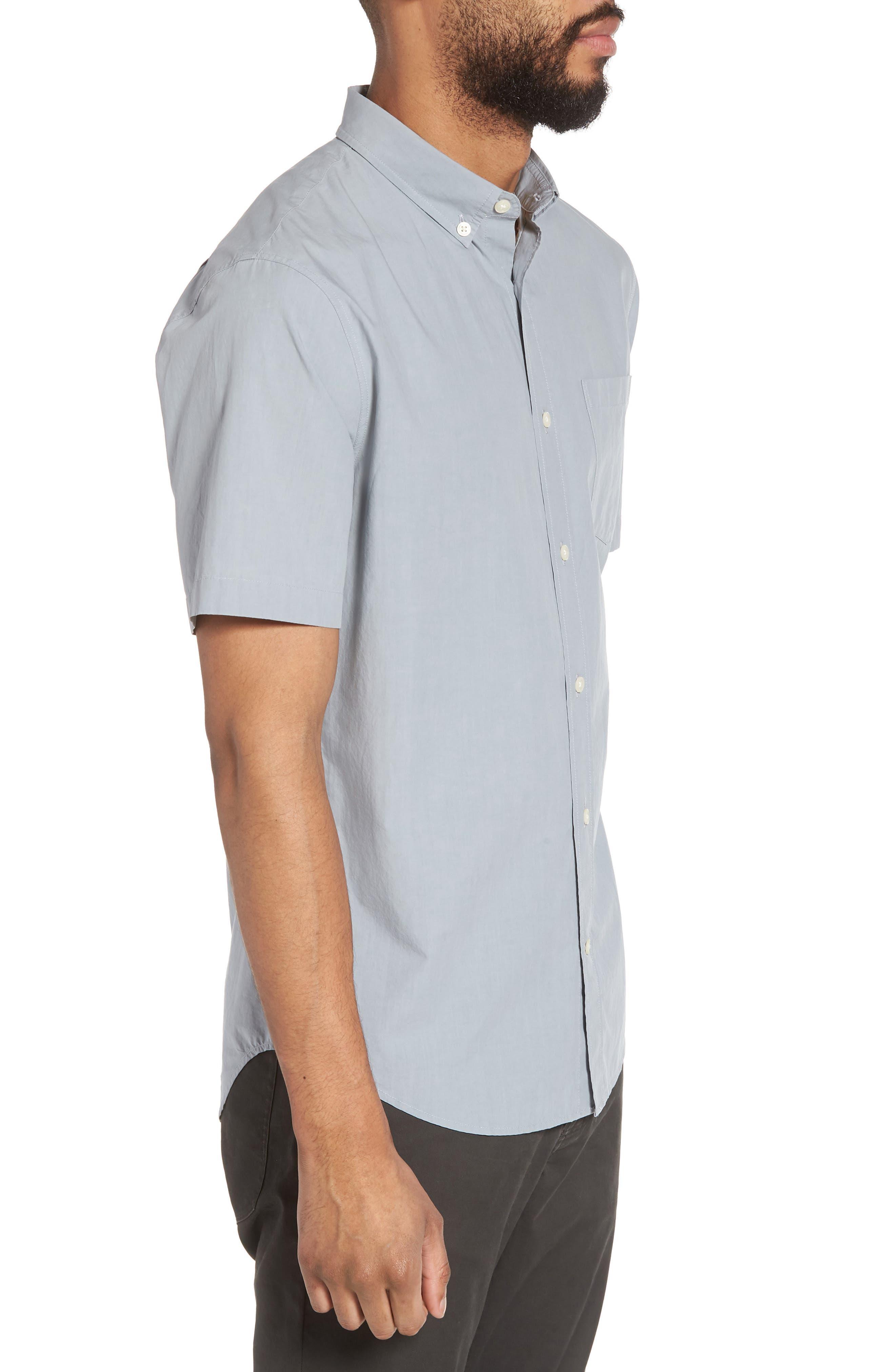 Slim Fit Sport Shirt,                             Alternate thumbnail 3, color,                             100