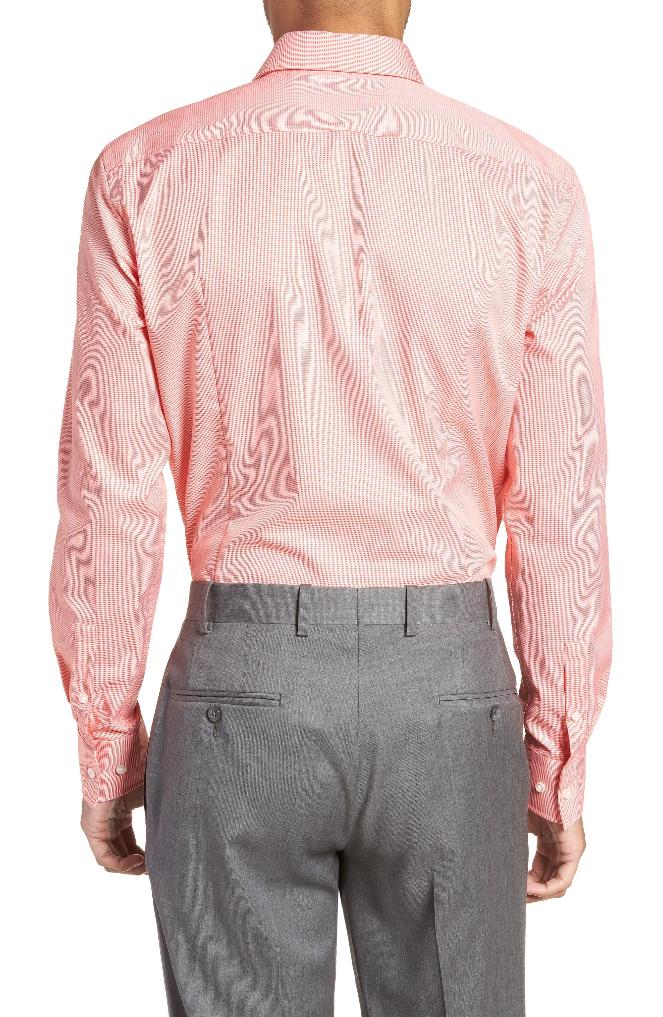 Jason Slim Fit Houndstooth Dress Shirt,                             Alternate thumbnail 3, color,                             813