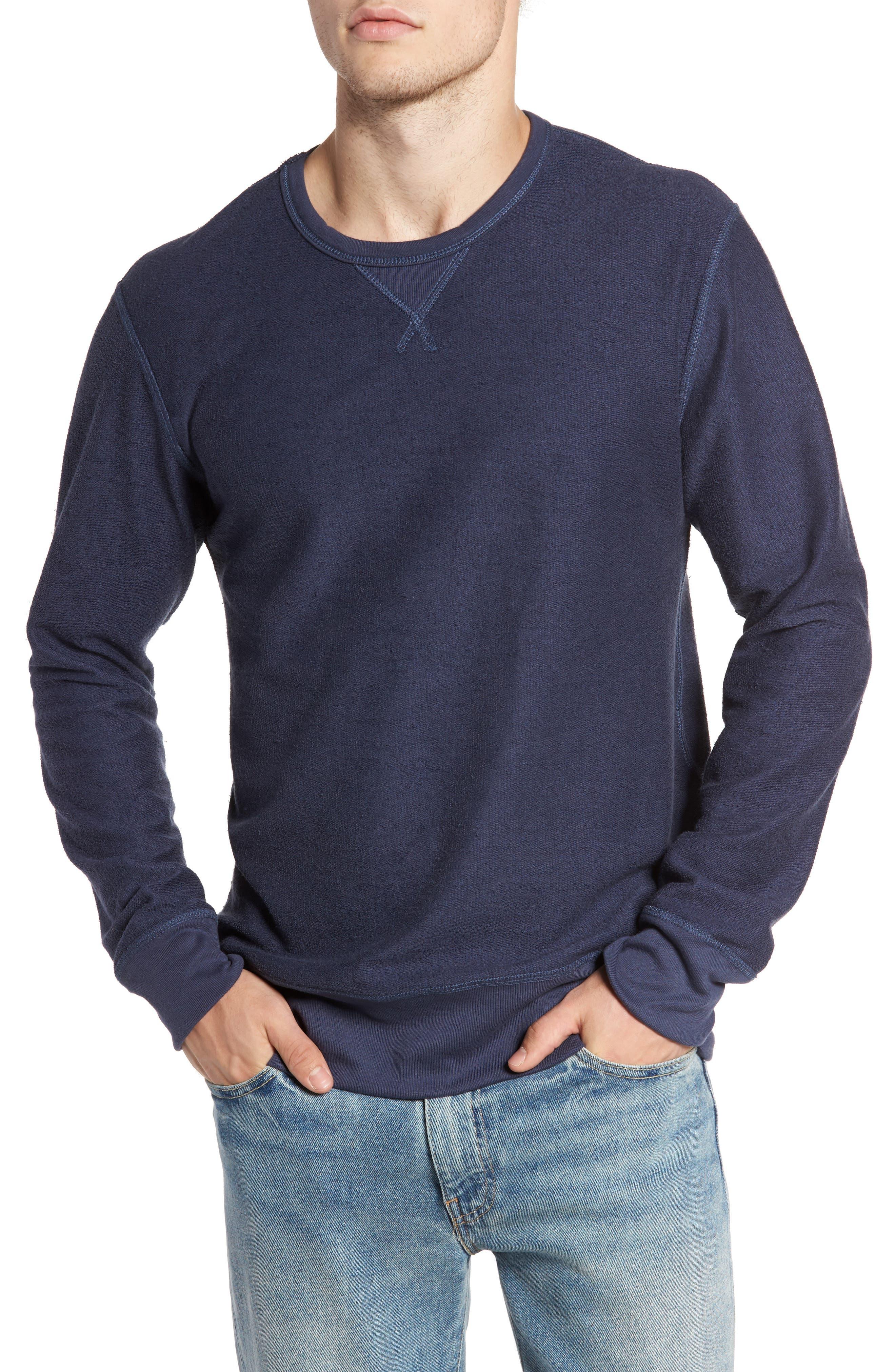 B-Side Reversible Crewneck Sweatshirt,                             Alternate thumbnail 26, color,