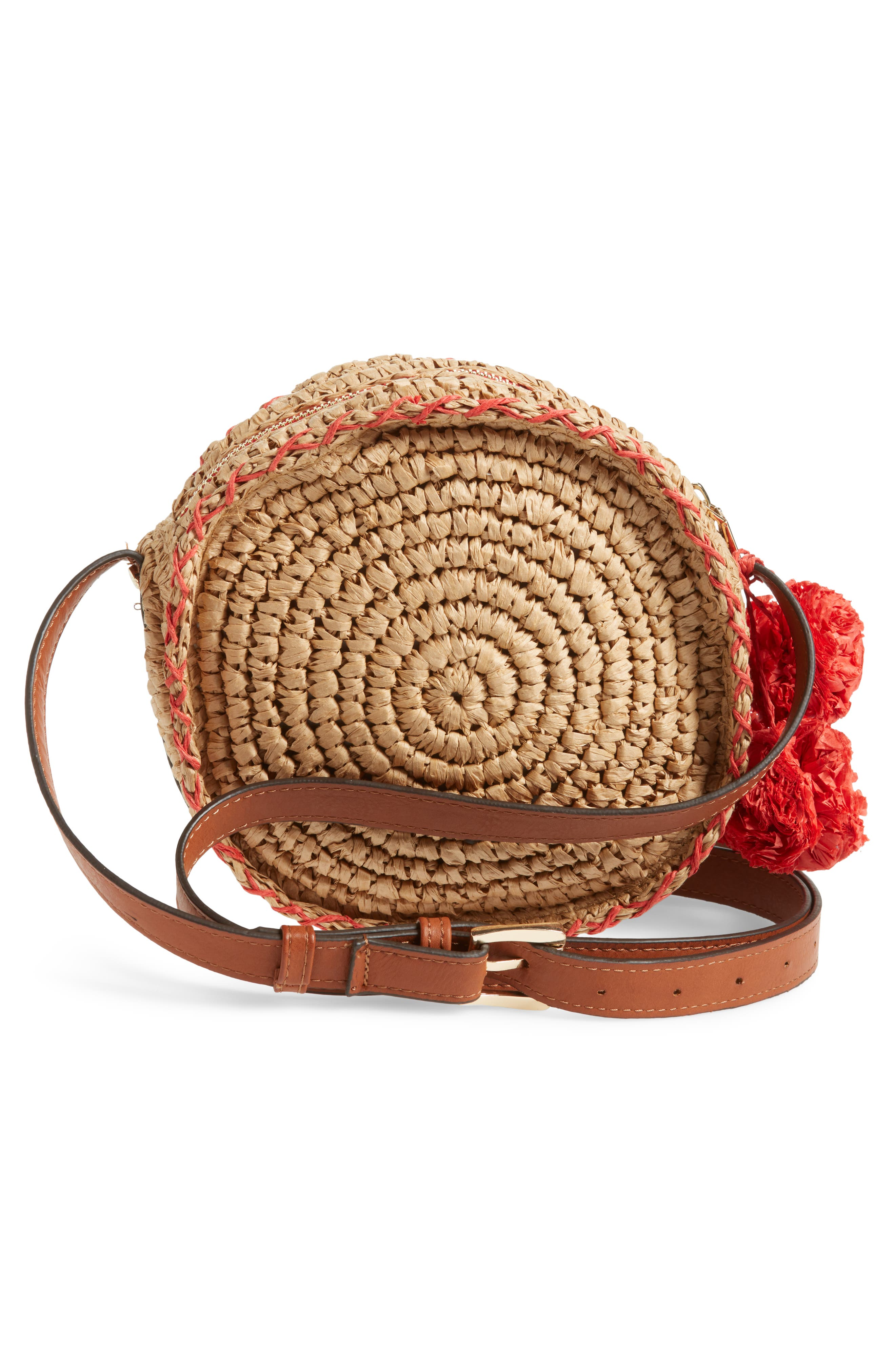 Pirro Woven Straw Crossbody Bag,                             Alternate thumbnail 3, color,                             237