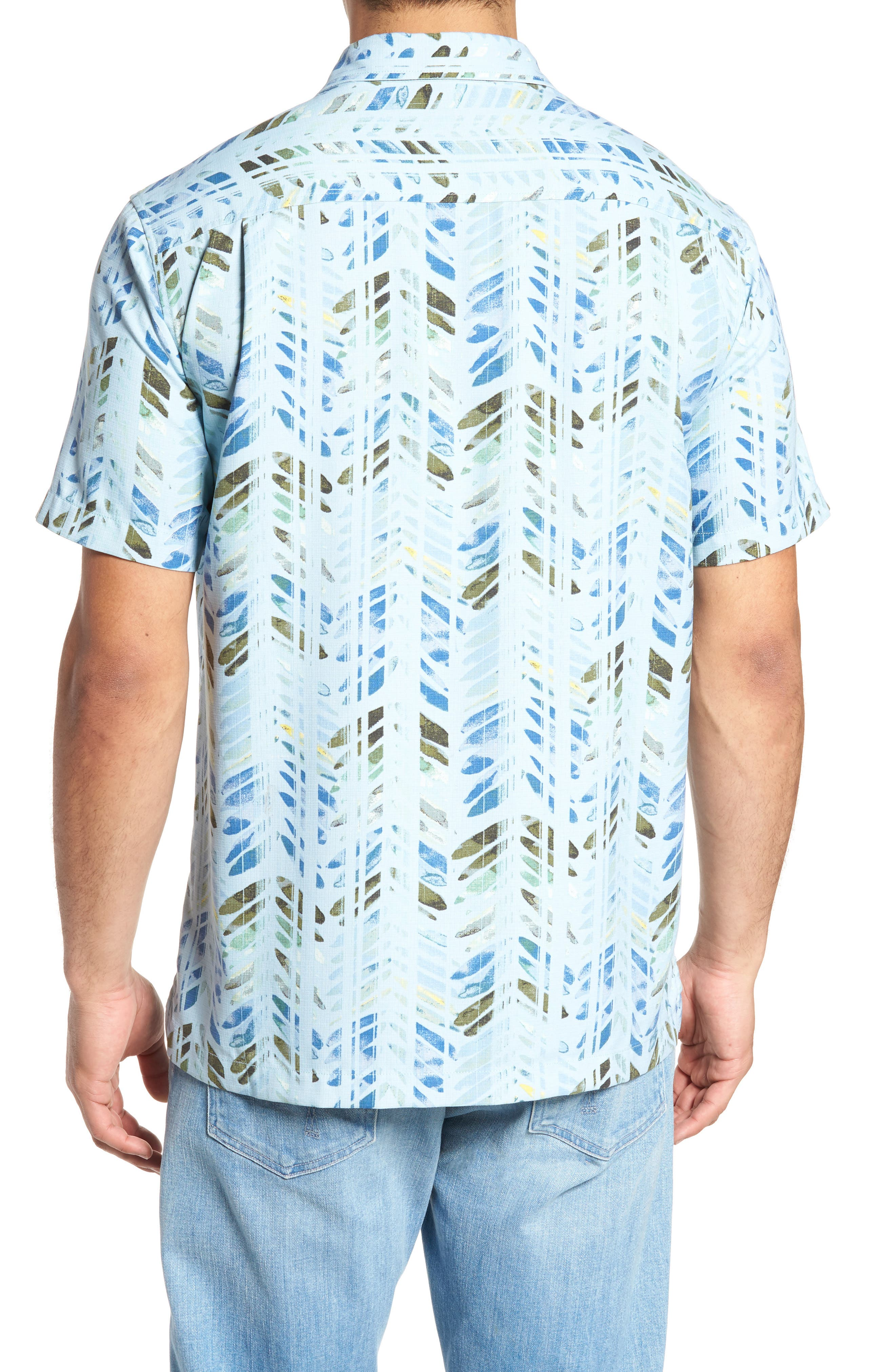 Right on Tide Silk Blend Camp Shirt,                             Alternate thumbnail 2, color,                             400