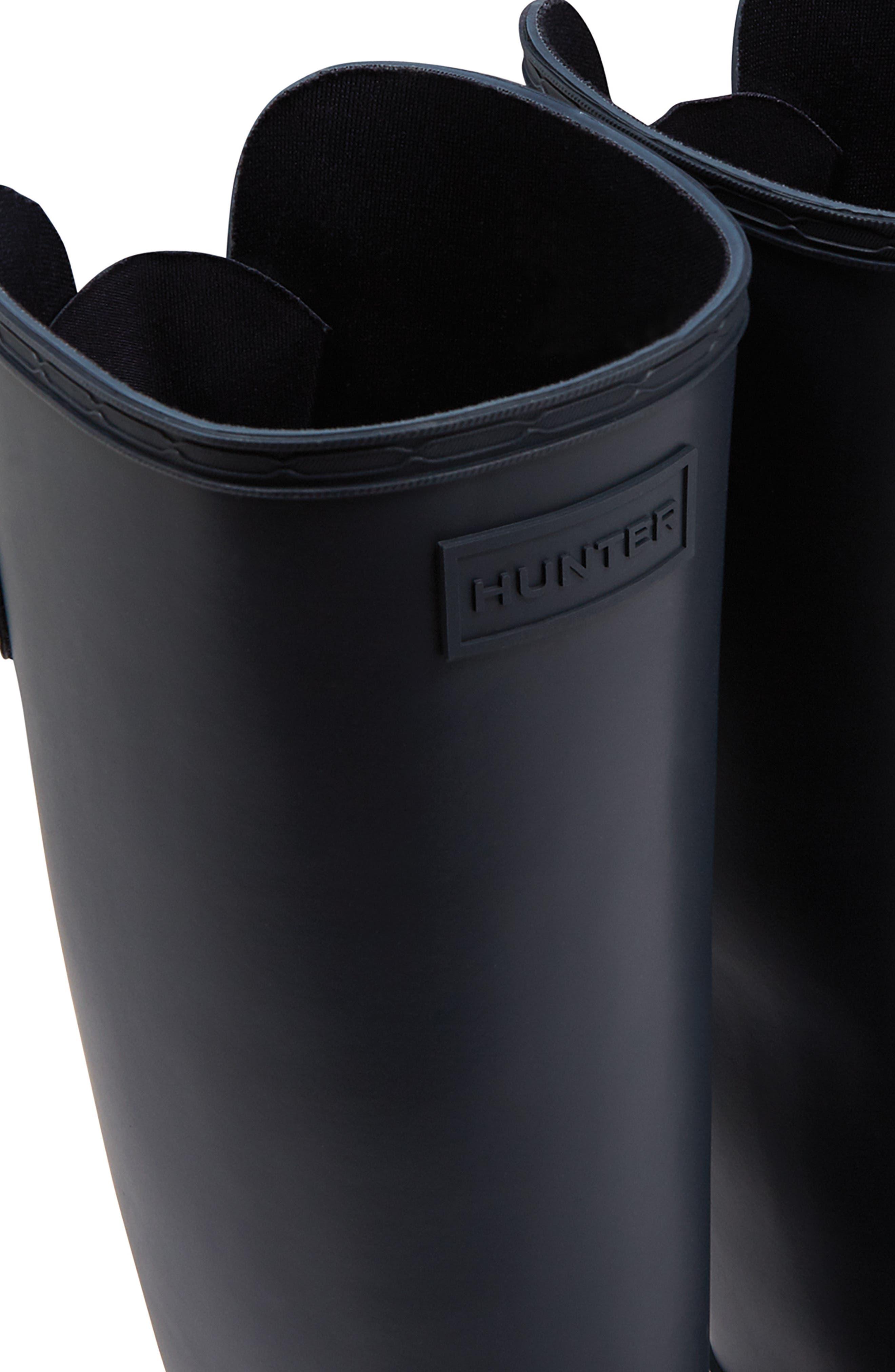 Refined Adjustable Back Knee High Waterproof Rain Boot,                             Alternate thumbnail 5, color,                             NAVY