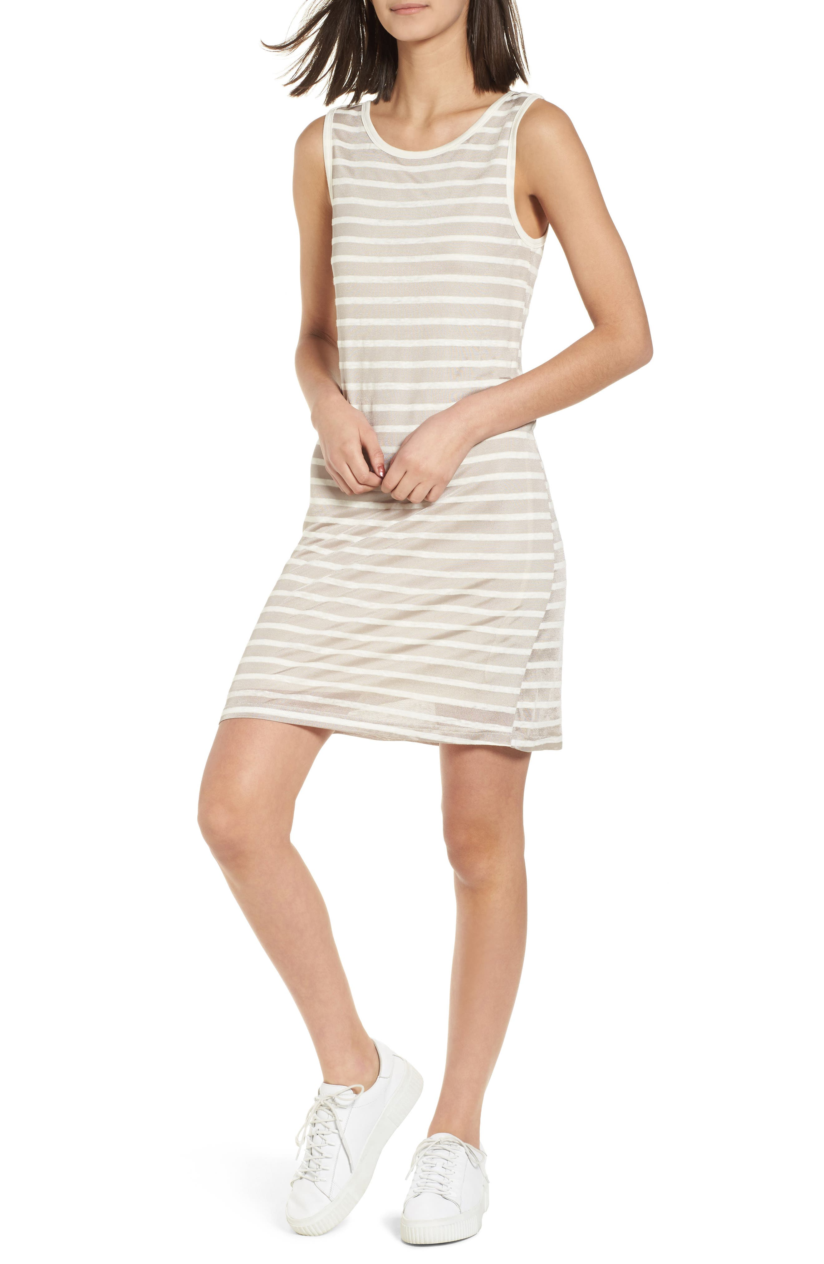 Stripe Linen Tank Dress,                             Main thumbnail 1, color,                             260