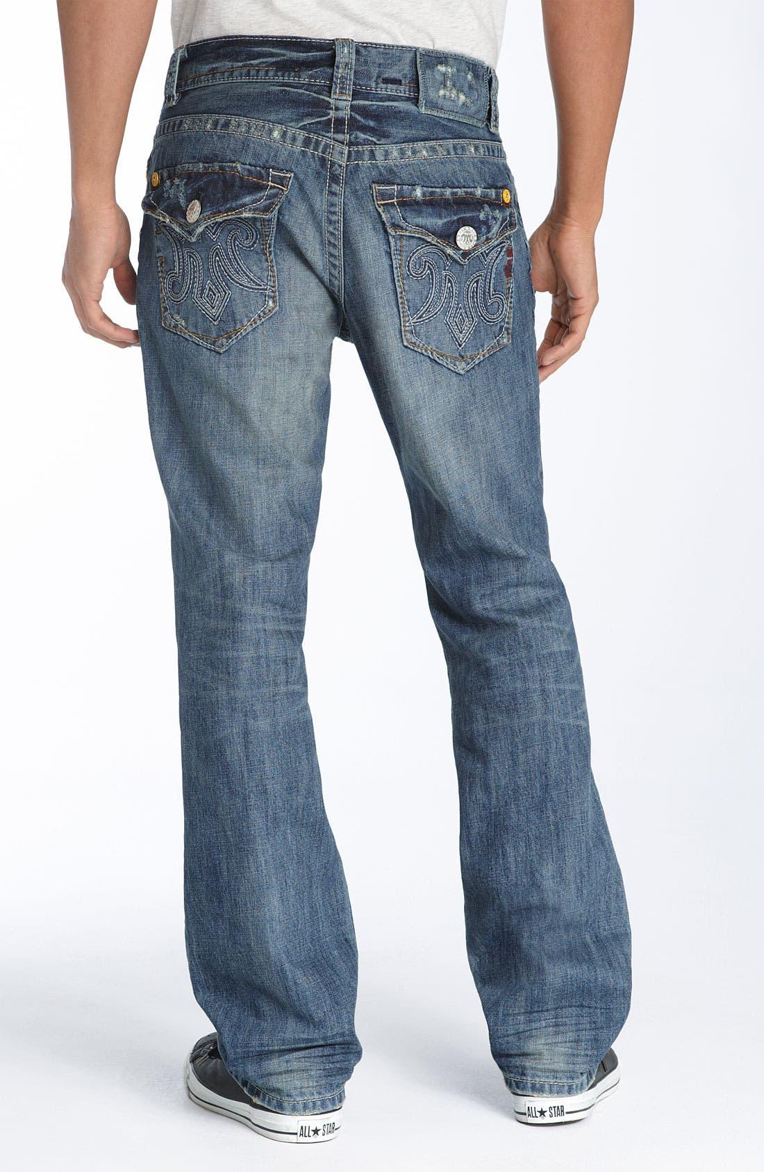 MEK DENIM Straight Leg Jeans, Main, color, 420