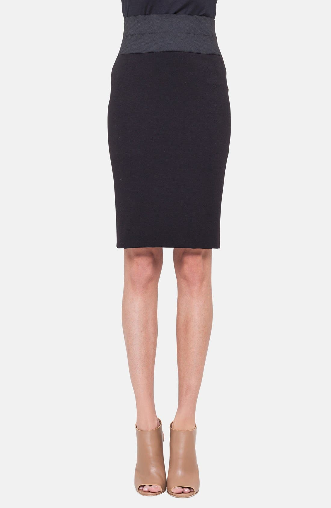 Pencil Skirt,                             Main thumbnail 1, color,                             BLACK