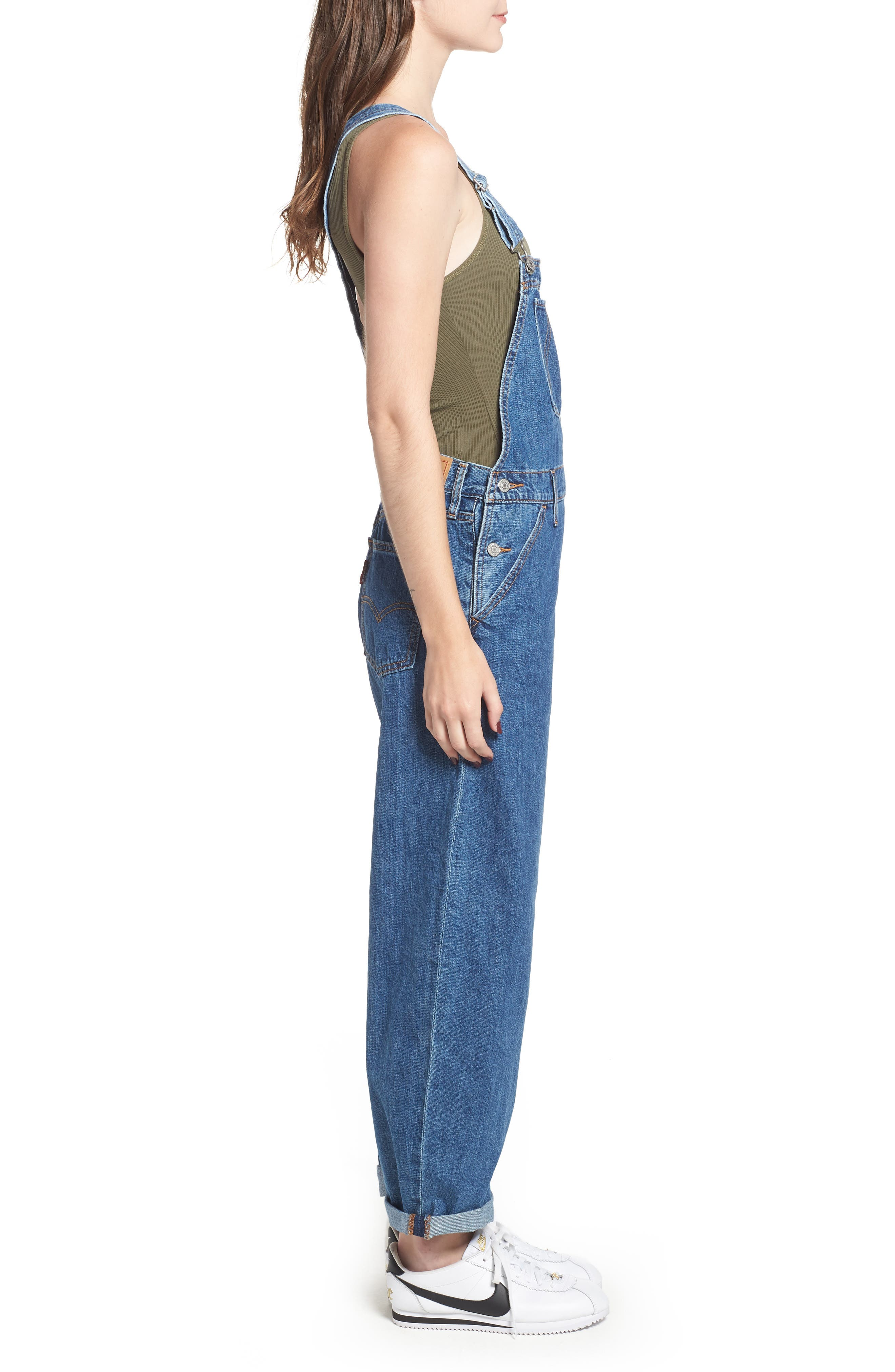 Baggy Overalls,                             Alternate thumbnail 3, color,                             401
