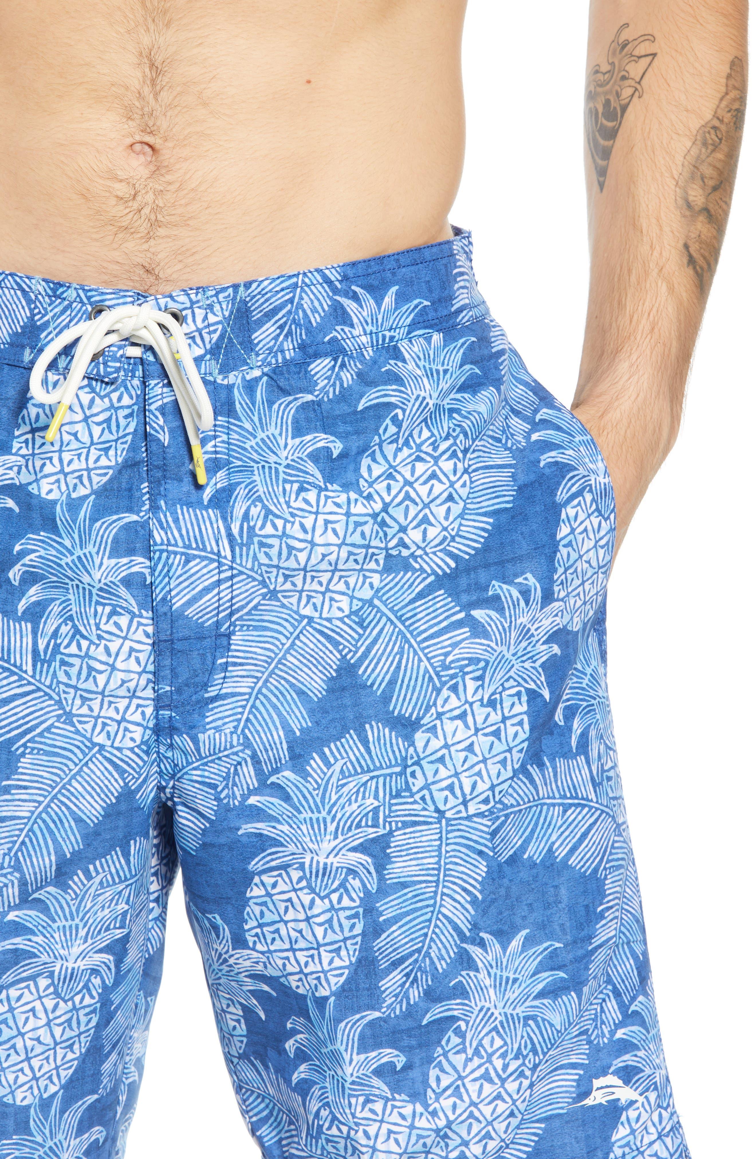 Paradise Around Board Shorts,                             Alternate thumbnail 4, color,                             OCEAN DEEP