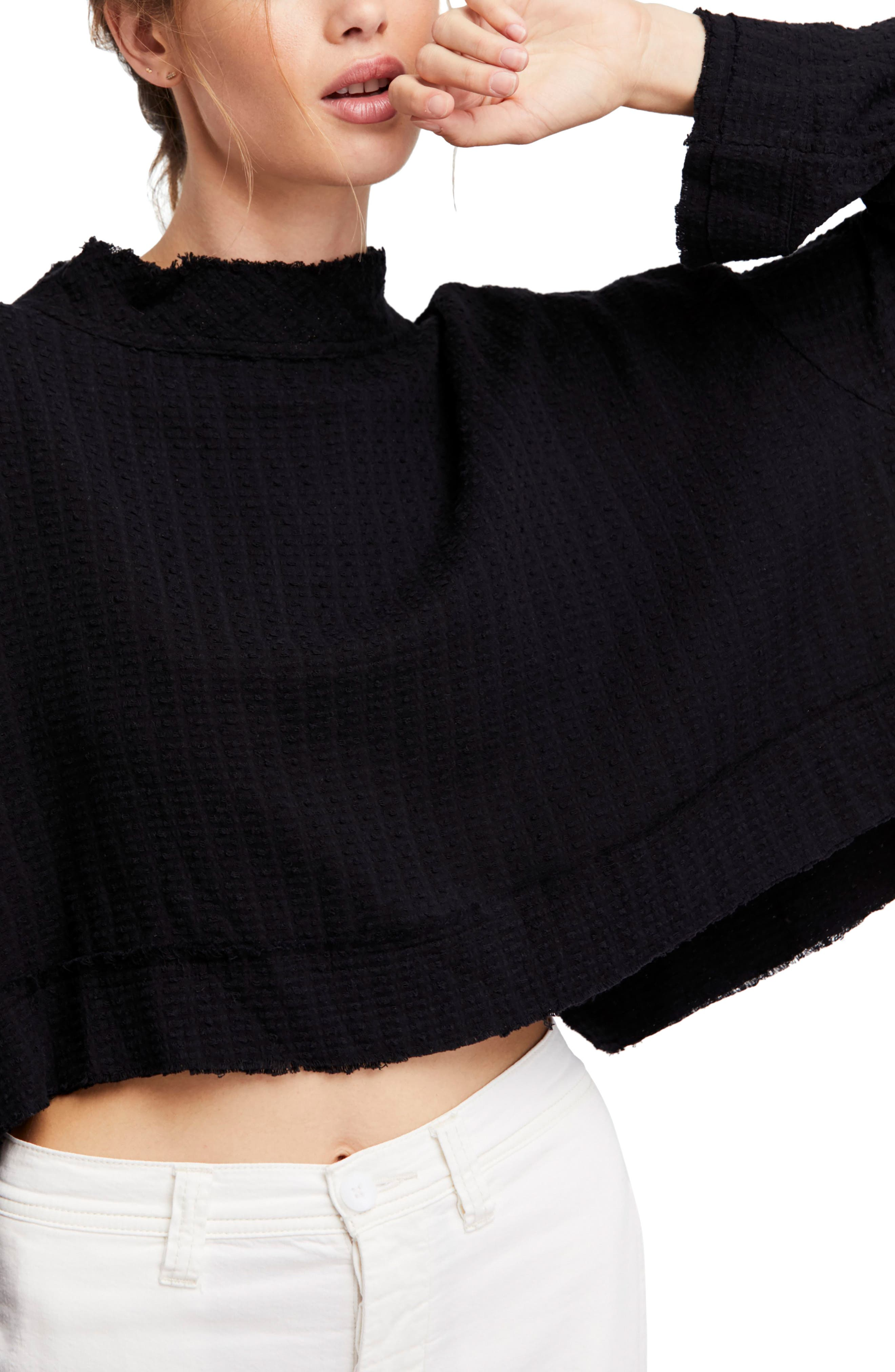Waking in Hueco Crop Sweater,                             Main thumbnail 1, color,                             001