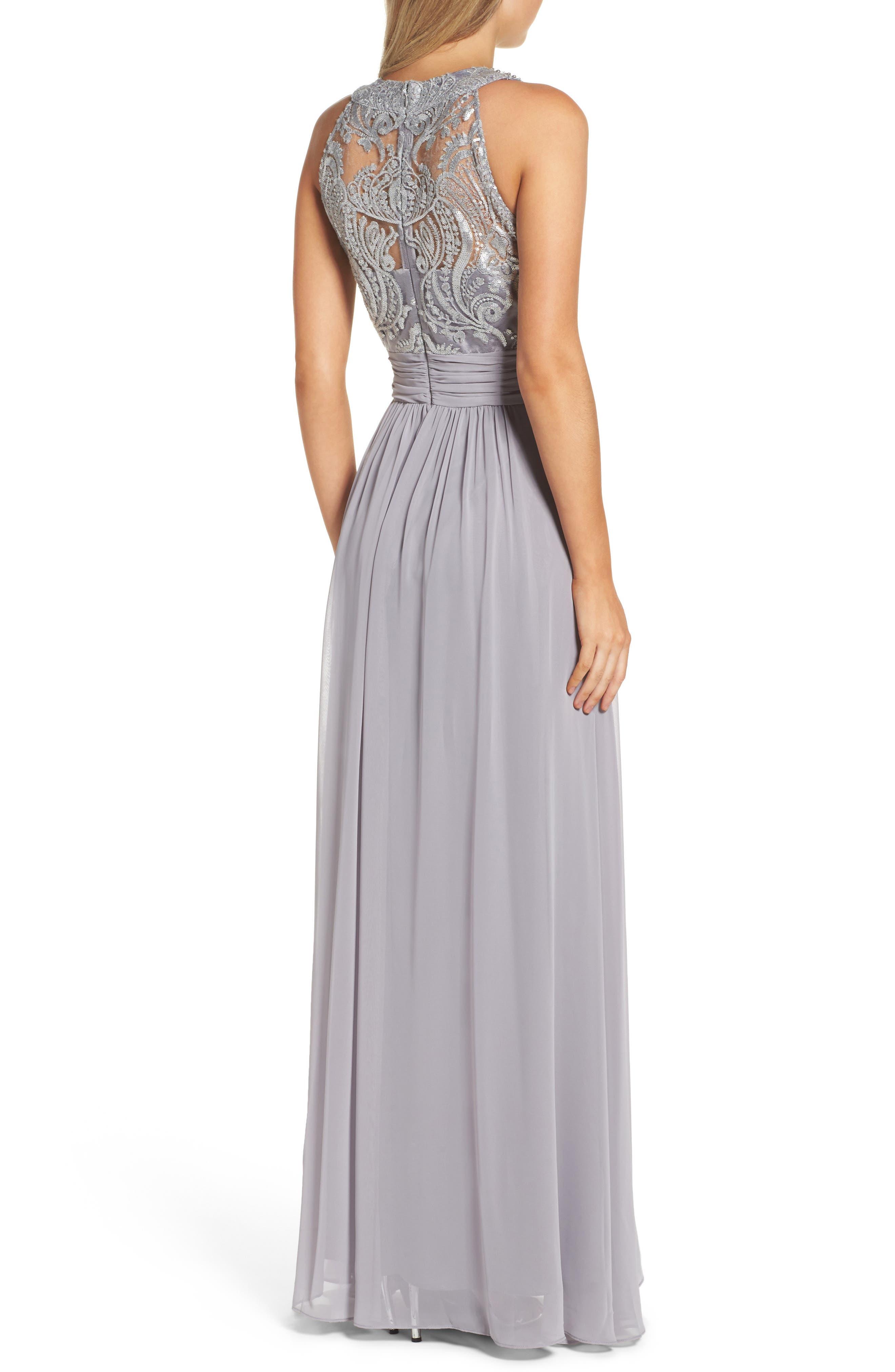 Lace Bodice Gown,                             Alternate thumbnail 6, color,