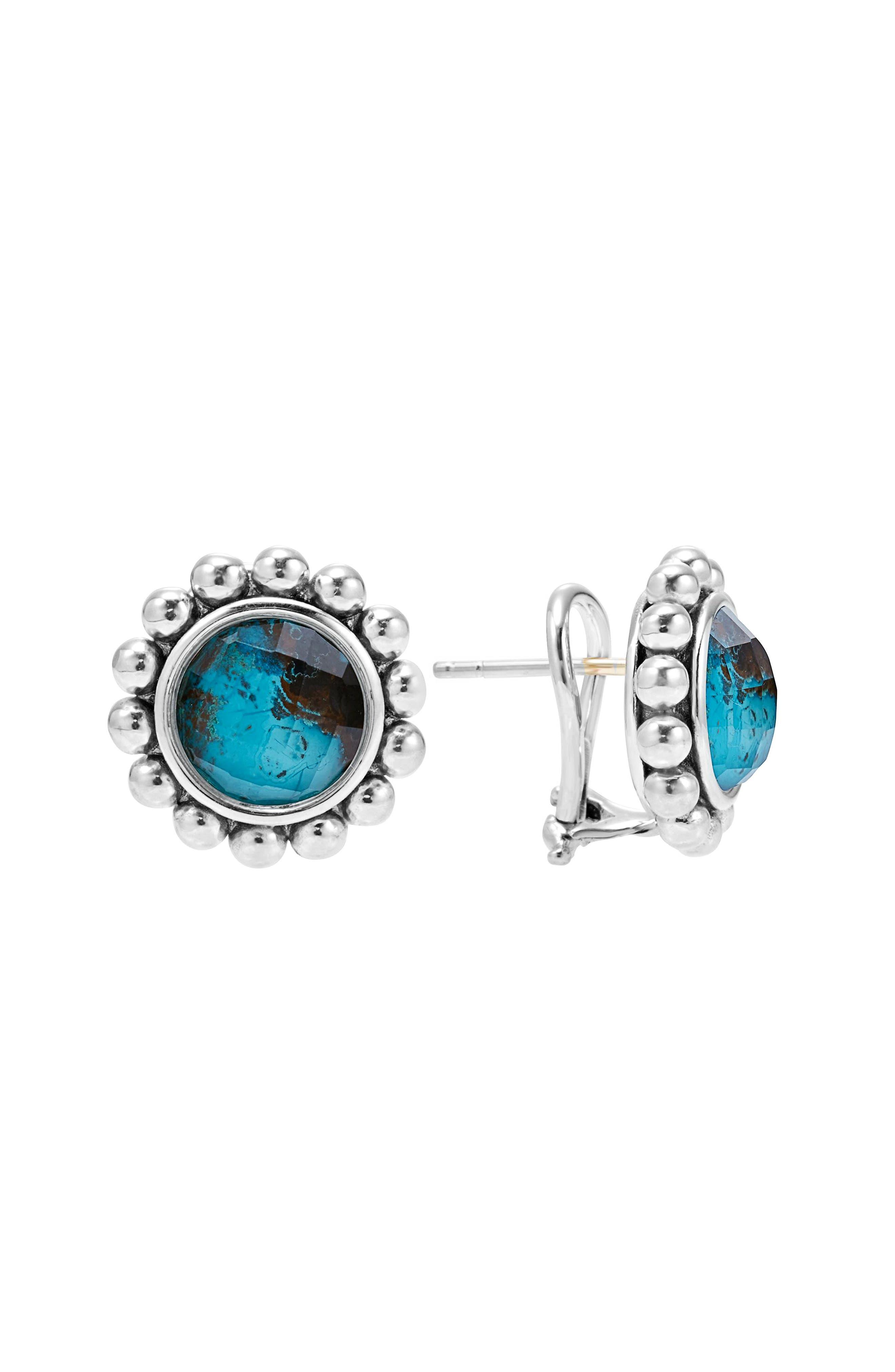 Maya Semiprecious Stone Stud Earrings,                         Main,                         color, 040