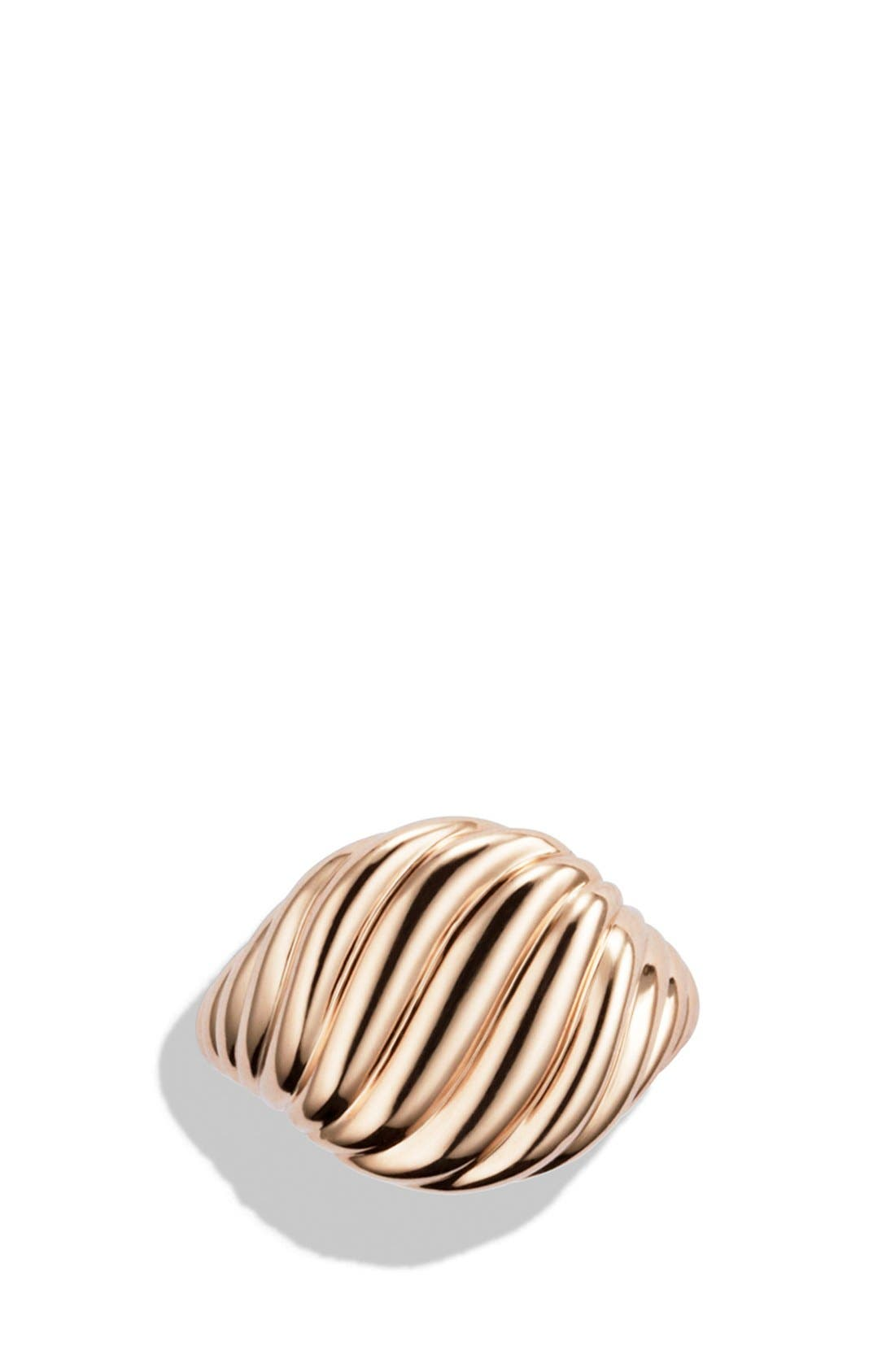 'DY Signature' Cable Pinky Ring in Gold,                             Alternate thumbnail 3, color,                             710