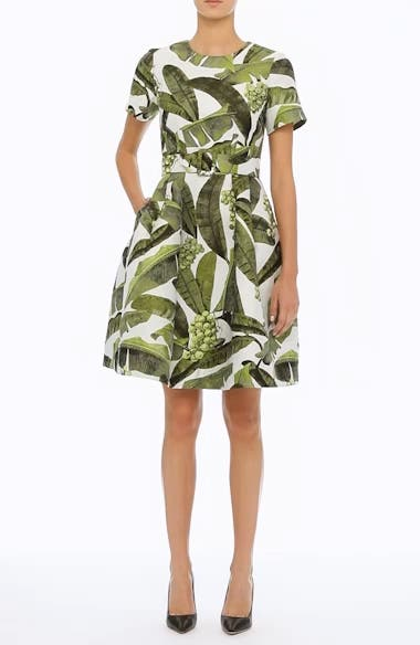 Leaf Jacquard Dress, video thumbnail