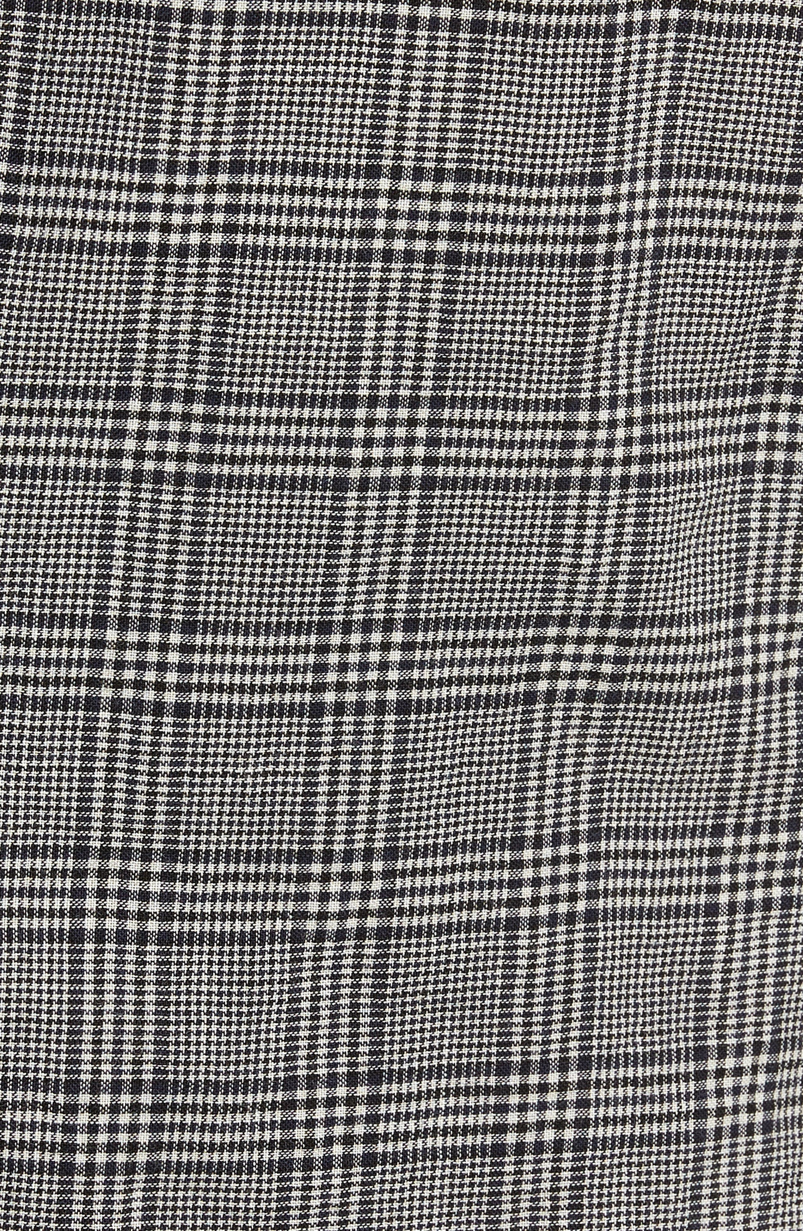 Modern Fit Plaid Wool Sport Coat,                             Alternate thumbnail 6, color,