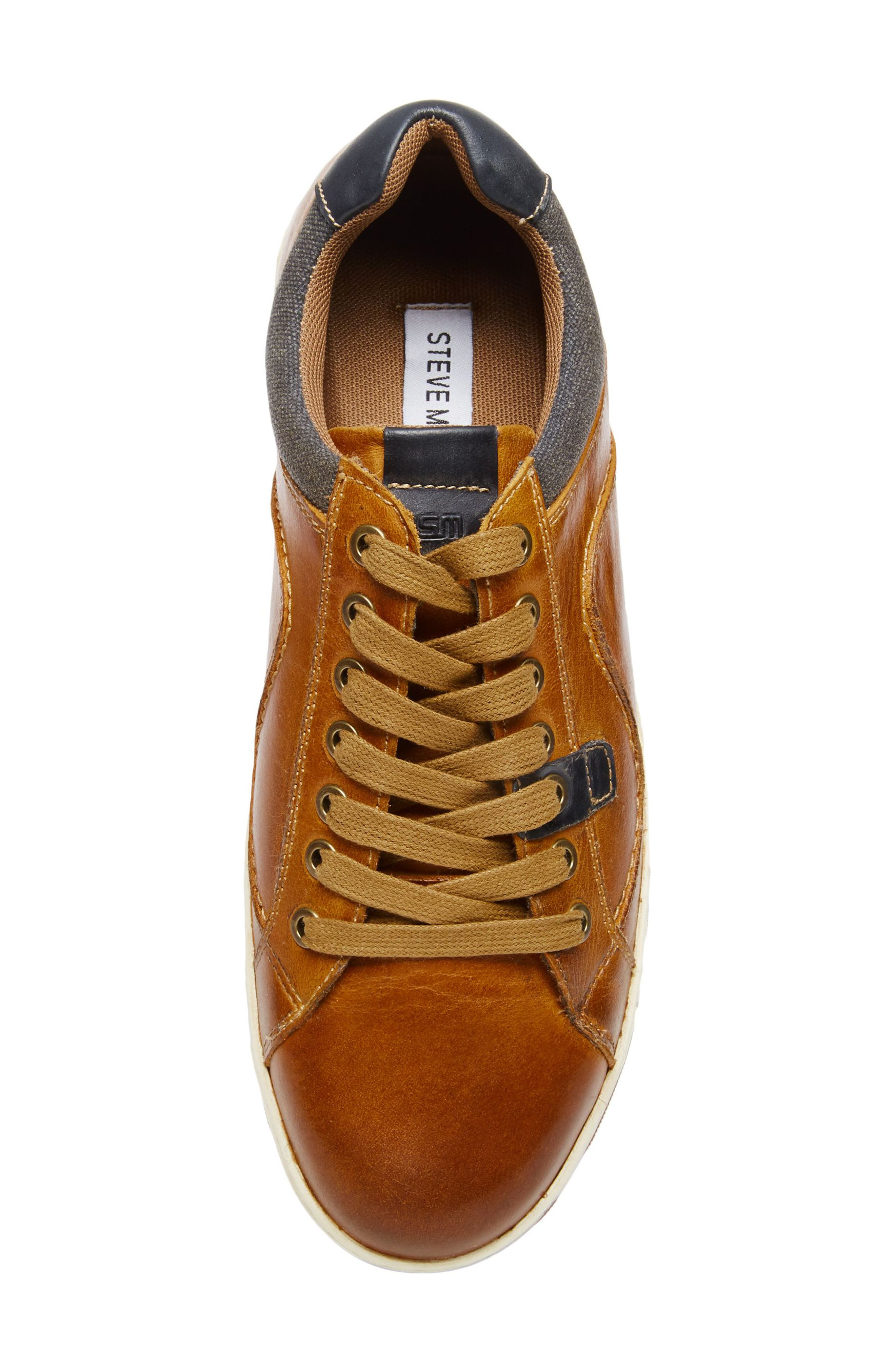 Chater Low Top Sneaker,                             Alternate thumbnail 5, color,                             RUST LEATHER