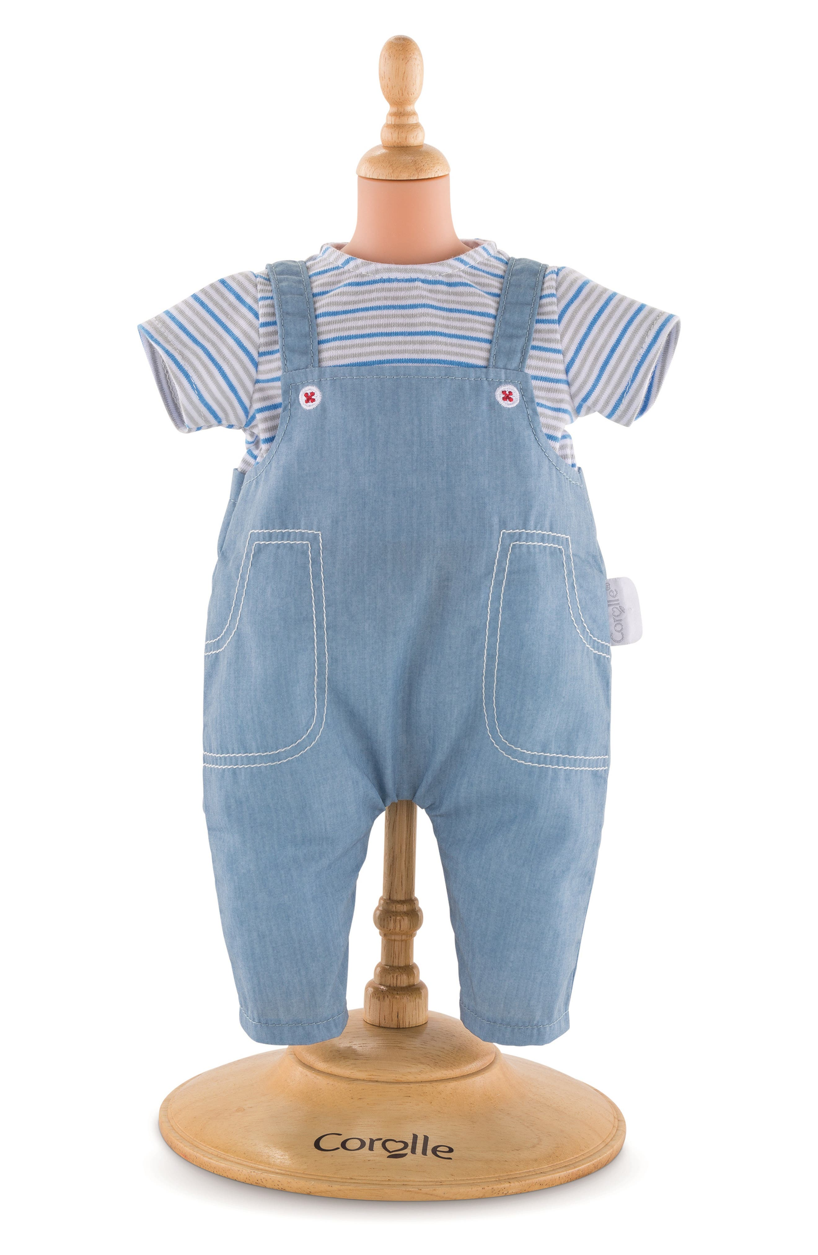 Toddler Girls Corolle Doll TShirt  Overalls Set