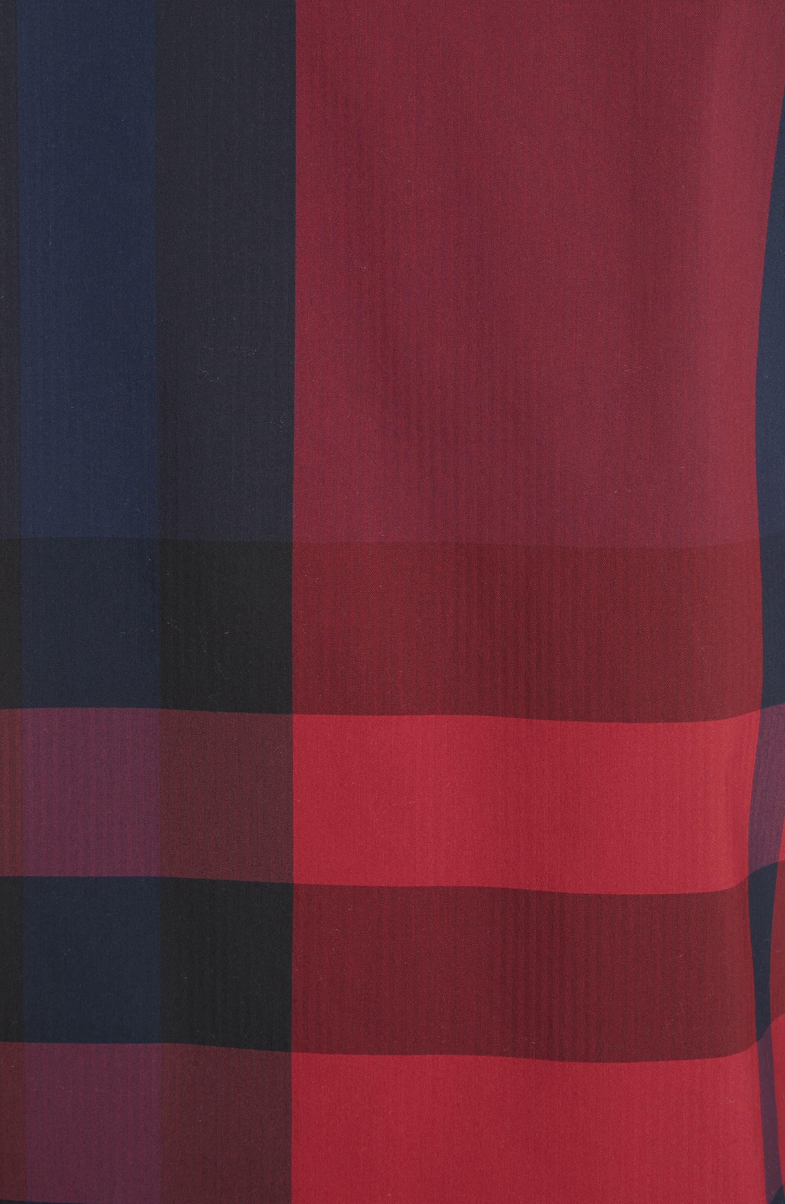 Thornaby Regular Fit Plaid Sport Shirt,                             Alternate thumbnail 5, color,