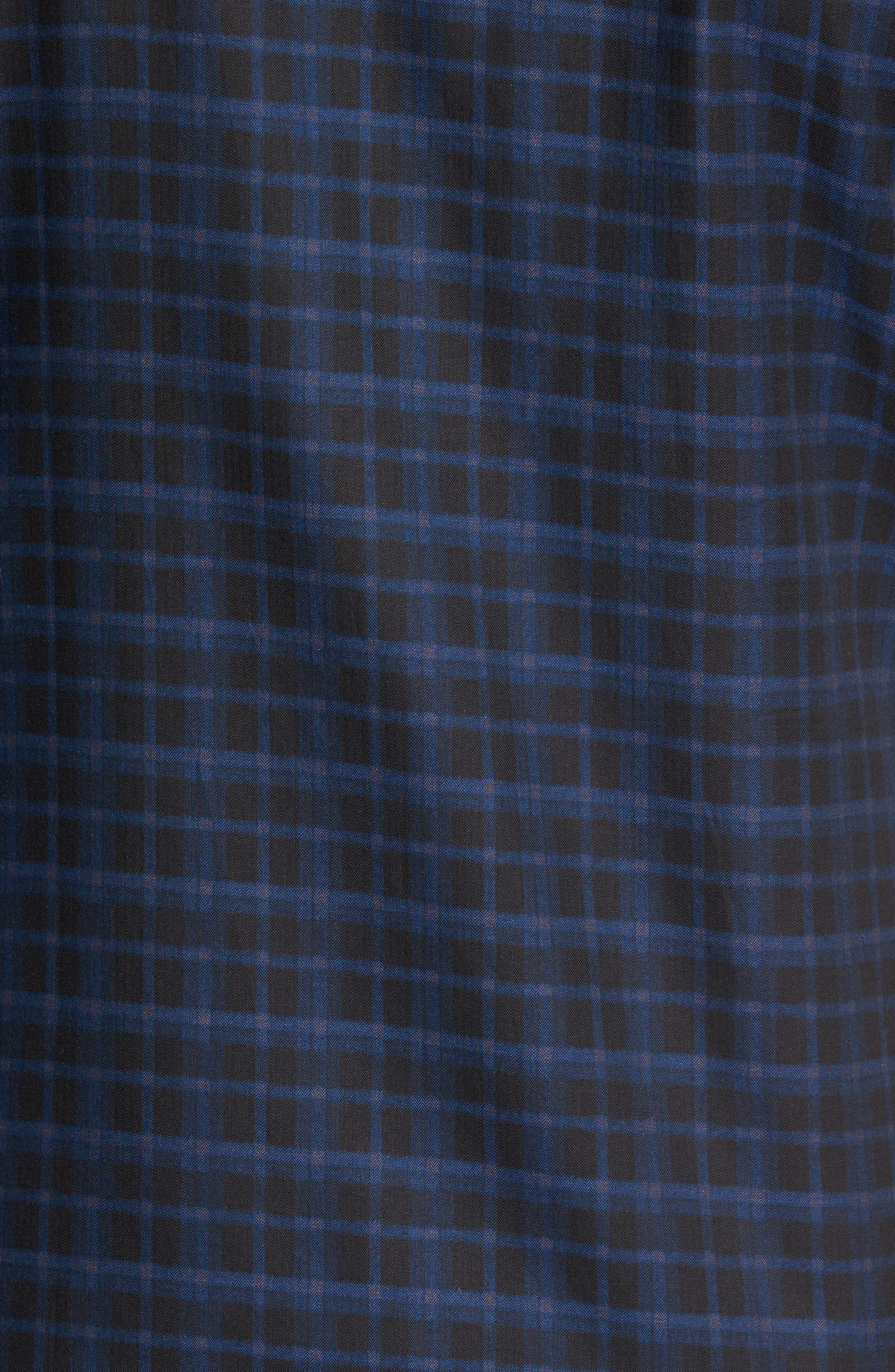 Shaped Fit Plaid Sport Shirt,                             Alternate thumbnail 5, color,                             410
