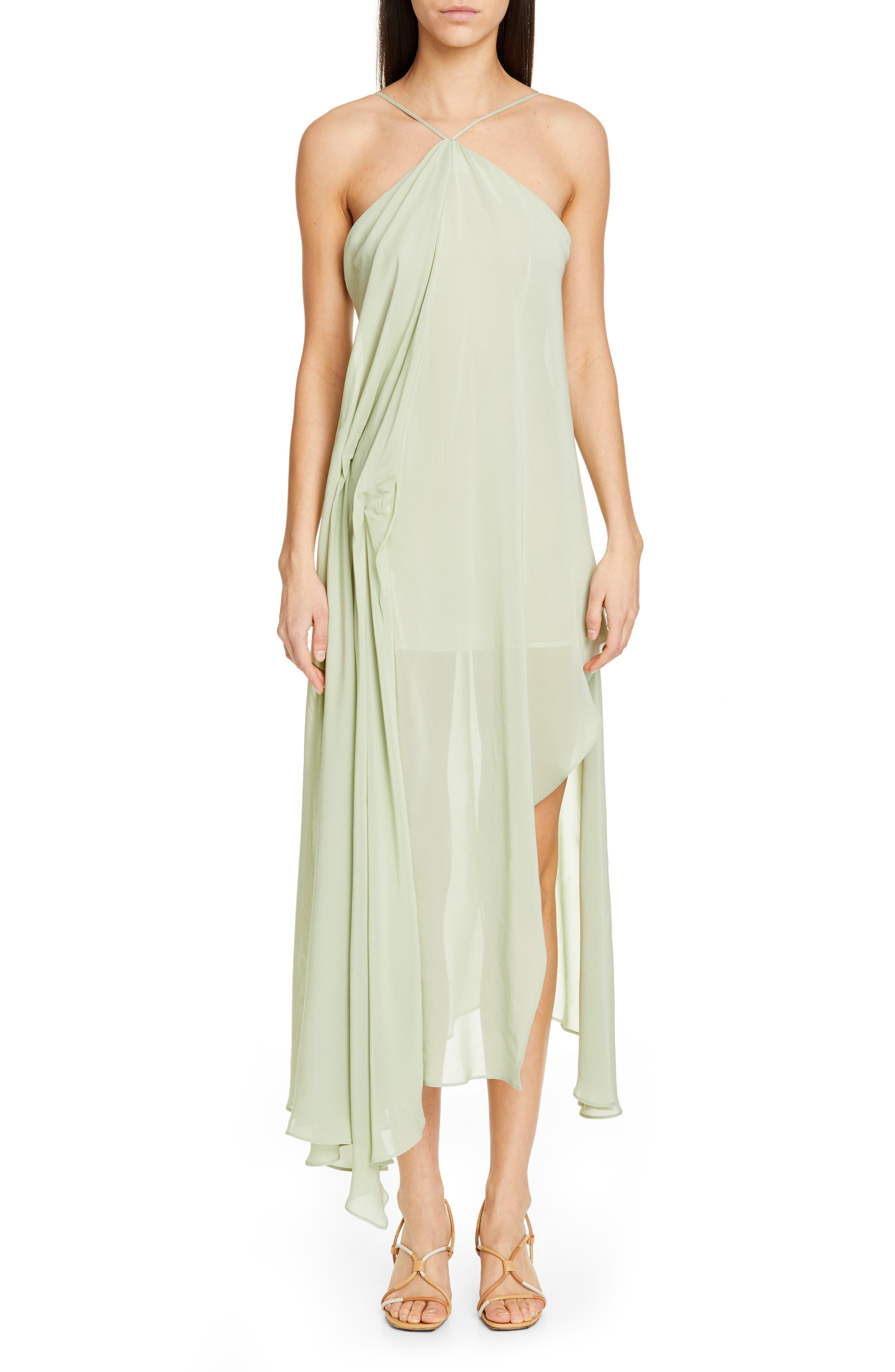 La Robe Spiaggia Halter Dress, Main, color, LIGHT GREEN