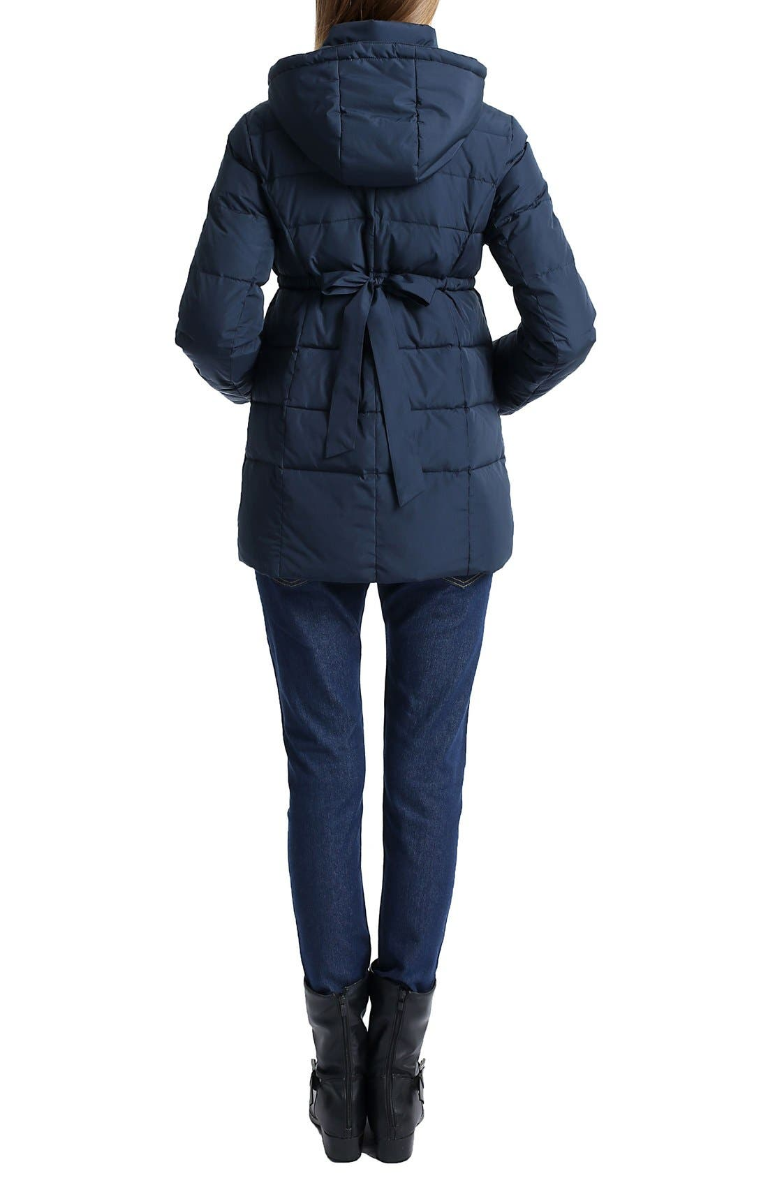 'Marlo' Water Resistant Down Maternity Parka,                             Alternate thumbnail 6, color,