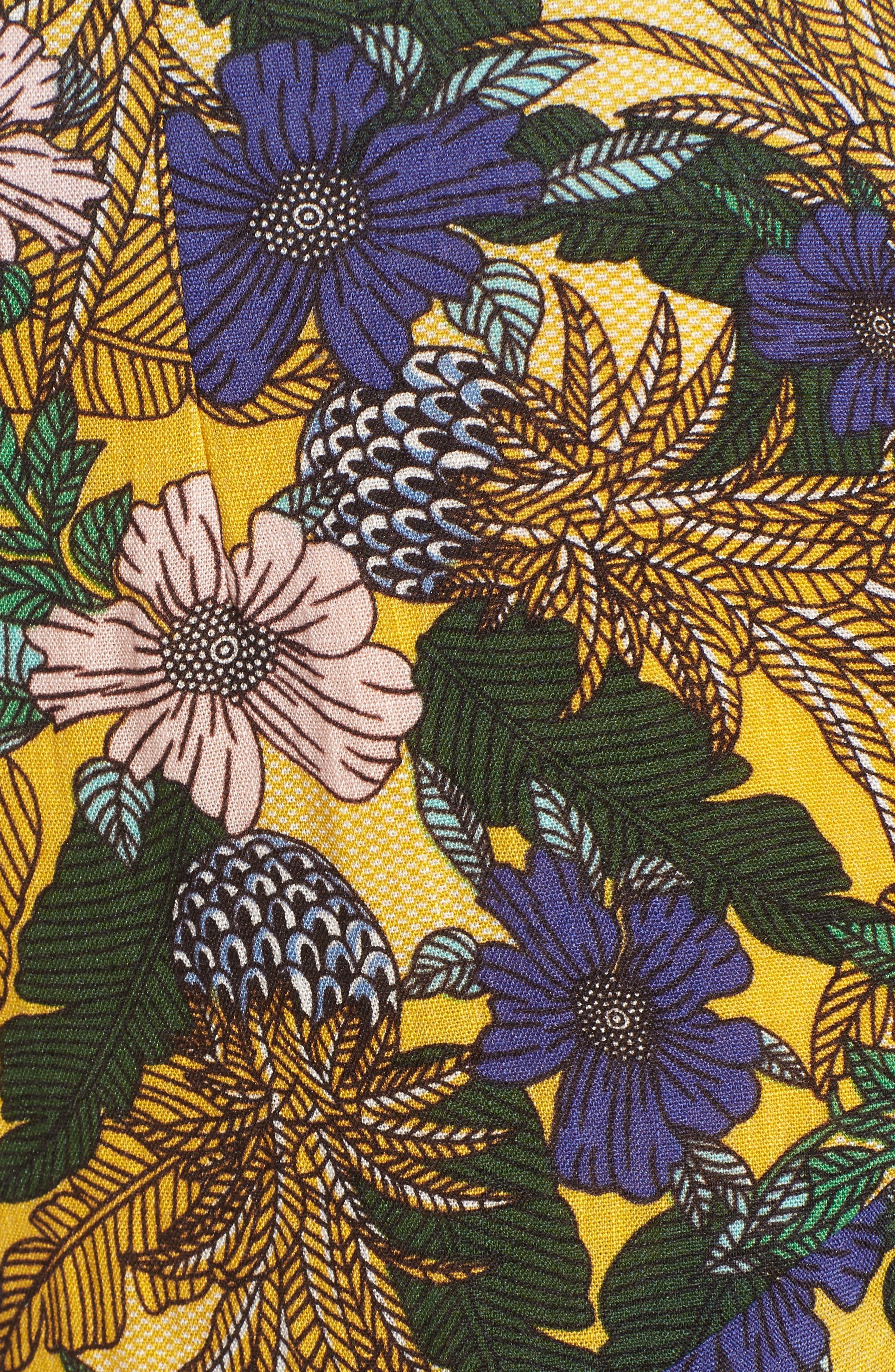 Isla Print Ruffle Shorts,                             Alternate thumbnail 5, color,