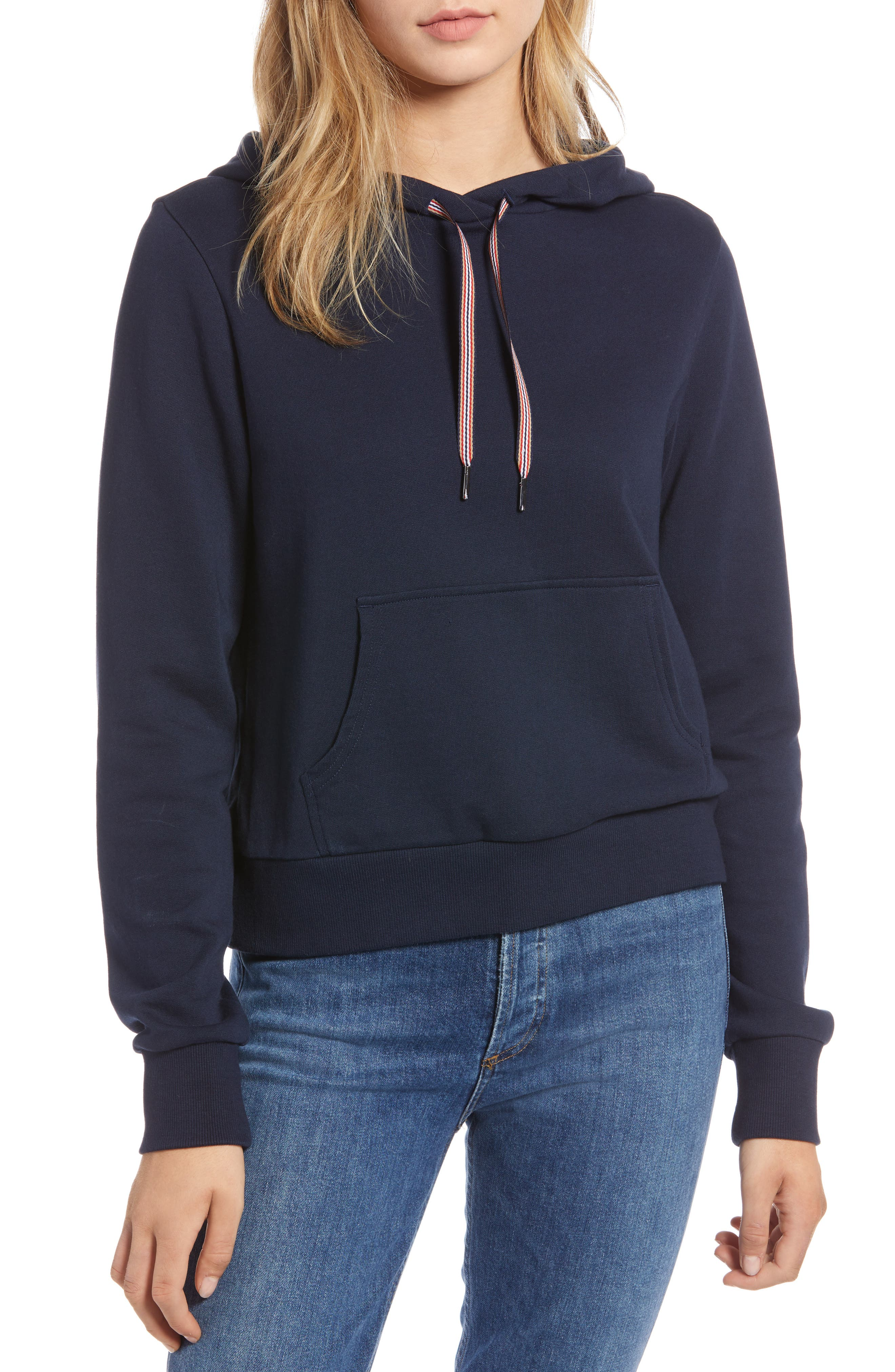 Stretch Cotton Hoodie,                         Main,                         color, 410